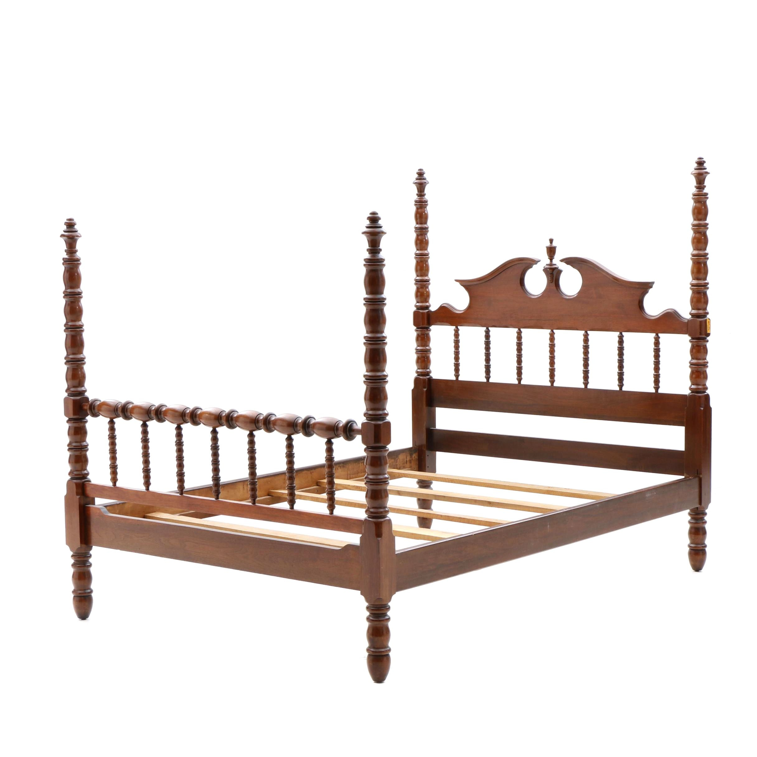 Federal Style Full Size Bed Frame in Walnut