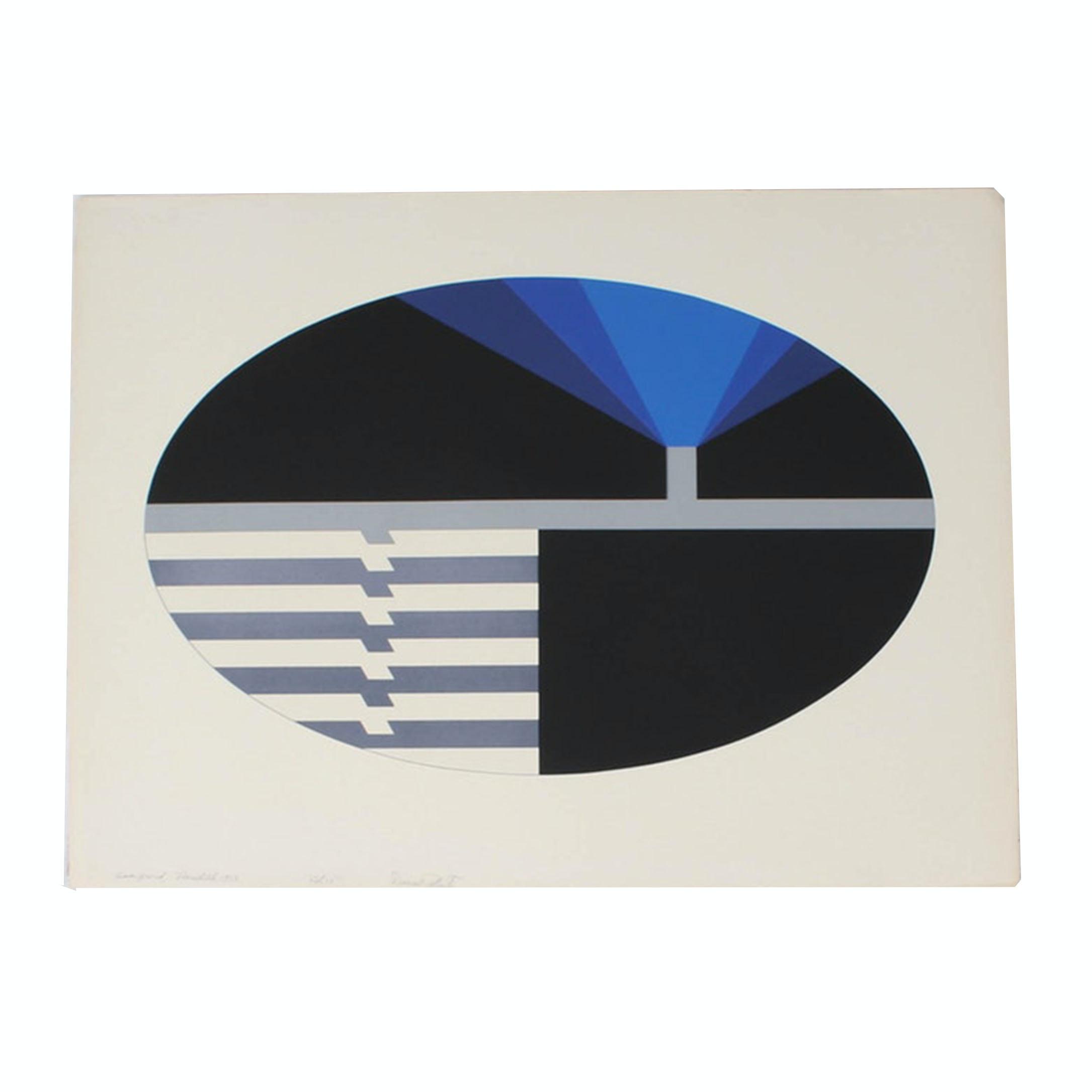 "Donald Roberts 1973 Serigraph ""Meredith"" from ""Ellipsoid"" Series"