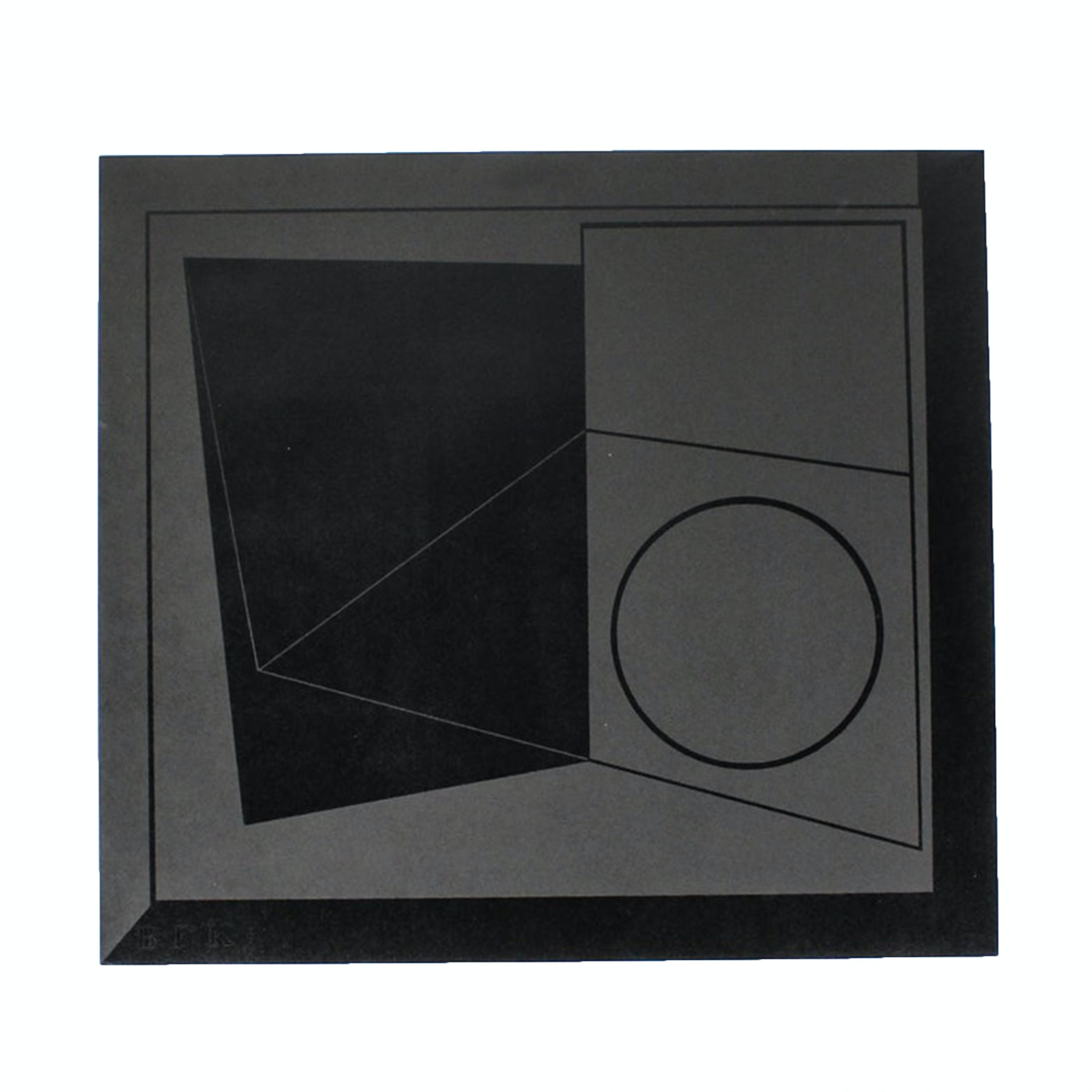 "Donald Roberts Serigraph ""Circle"" from ""Black Project"""