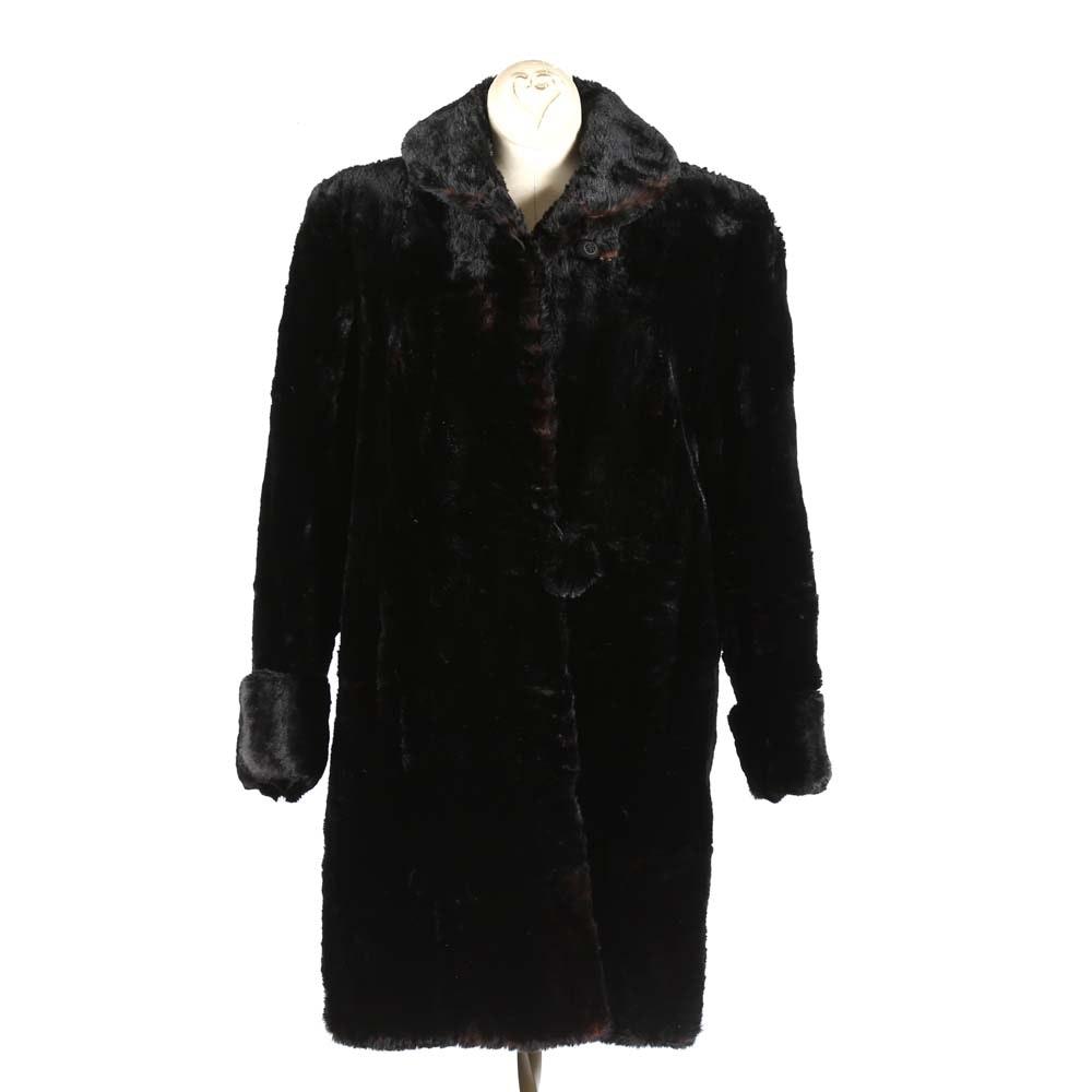 Lazarus Sheared Mink Fur Coat