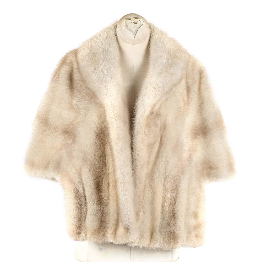 Vintage Blonde Mink Fur Stole