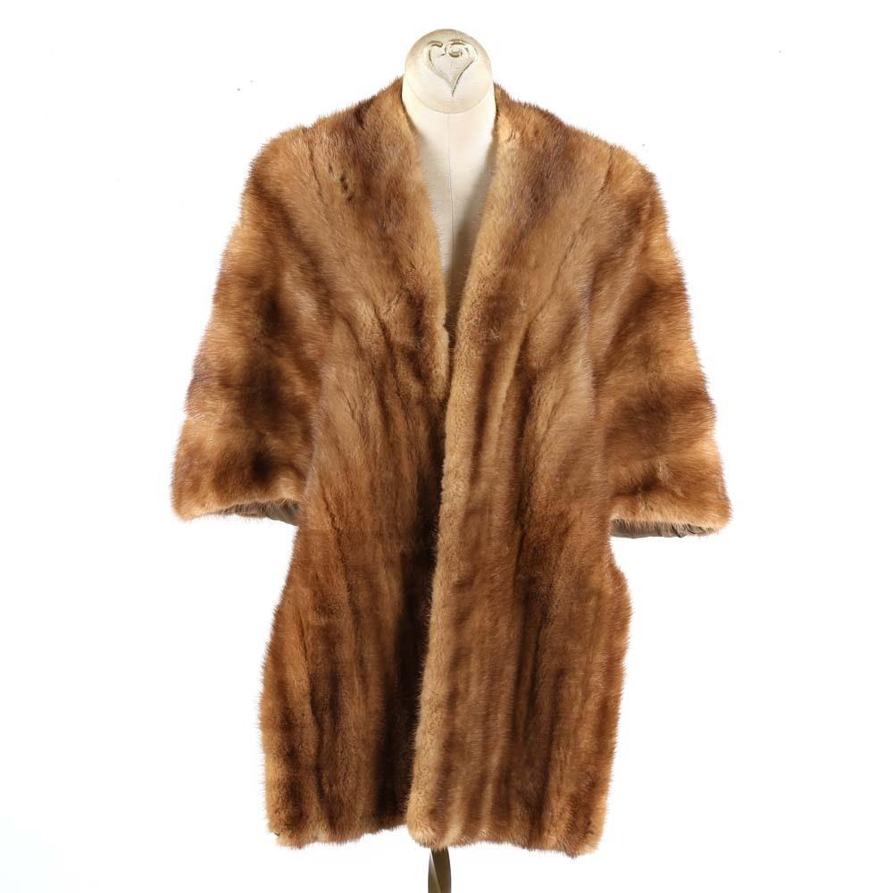 Charmante Furs Plasha Mink Fur Stole