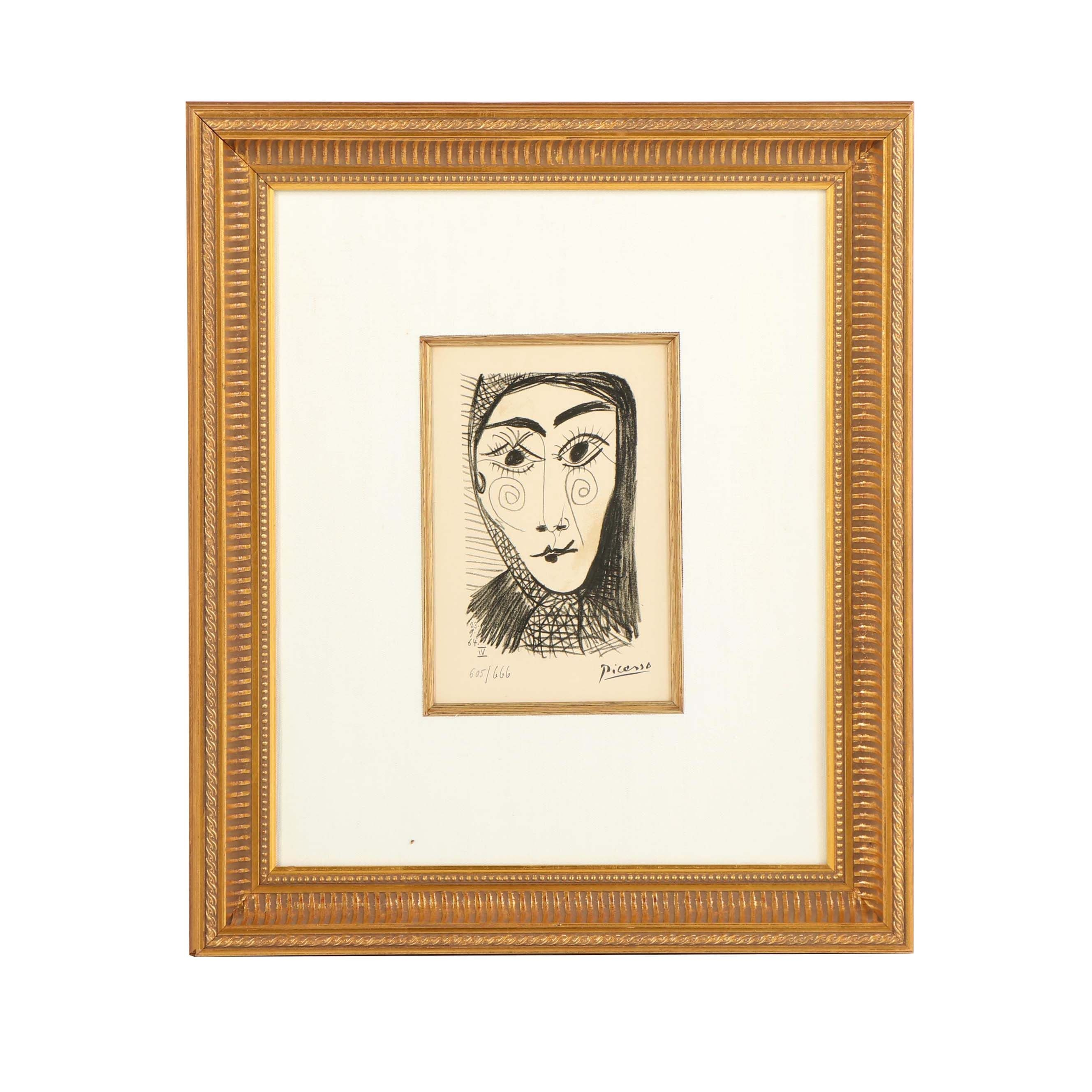 """Pablo Picasso Lithograph from """"Le Goût du Bonheur"""""""