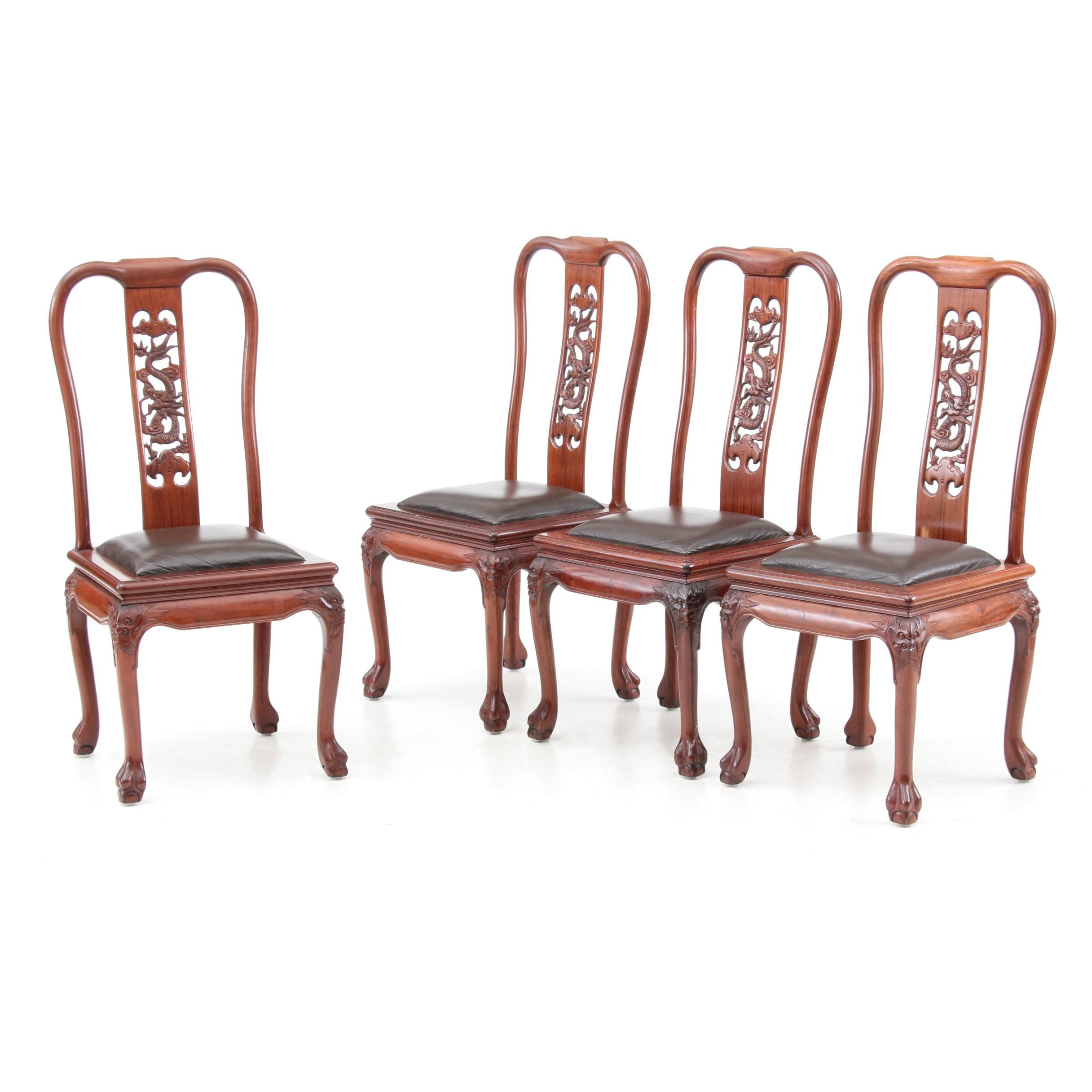 Contemporary Set of Chinese Style Side Chairs