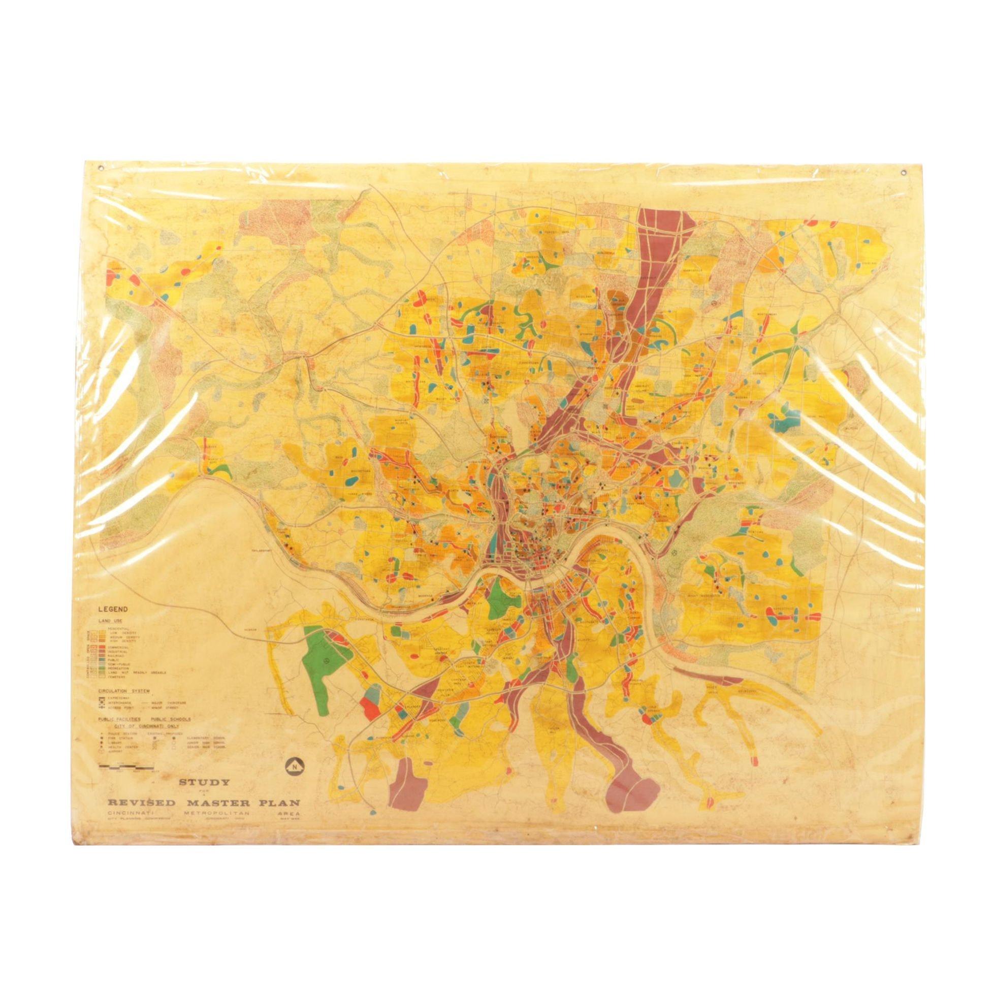 "1965 Map ""Study for a Revised Master Plan: Cincinnati Metropolitan Area"""
