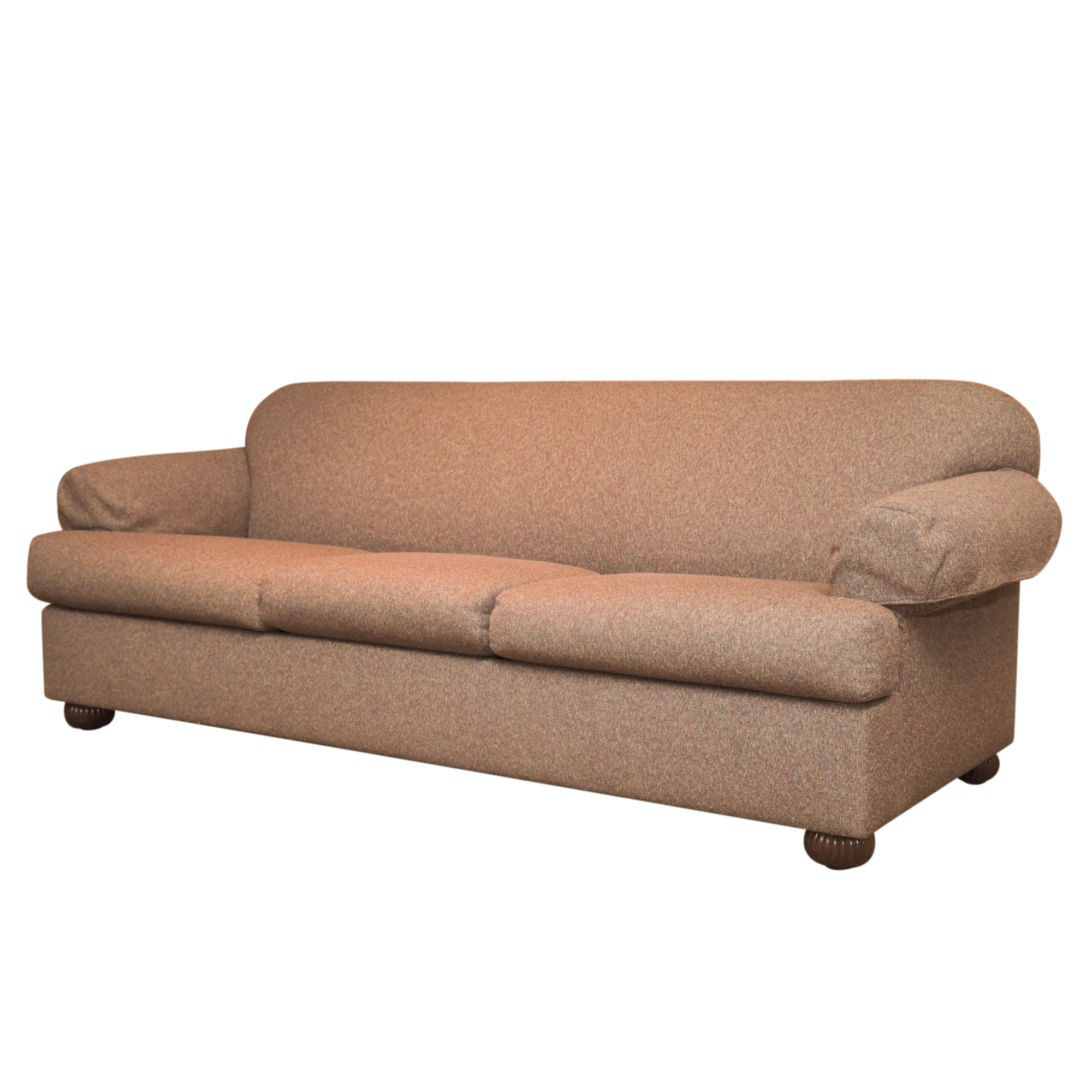 Taupe Brown Upholstered Sleeper Sofa
