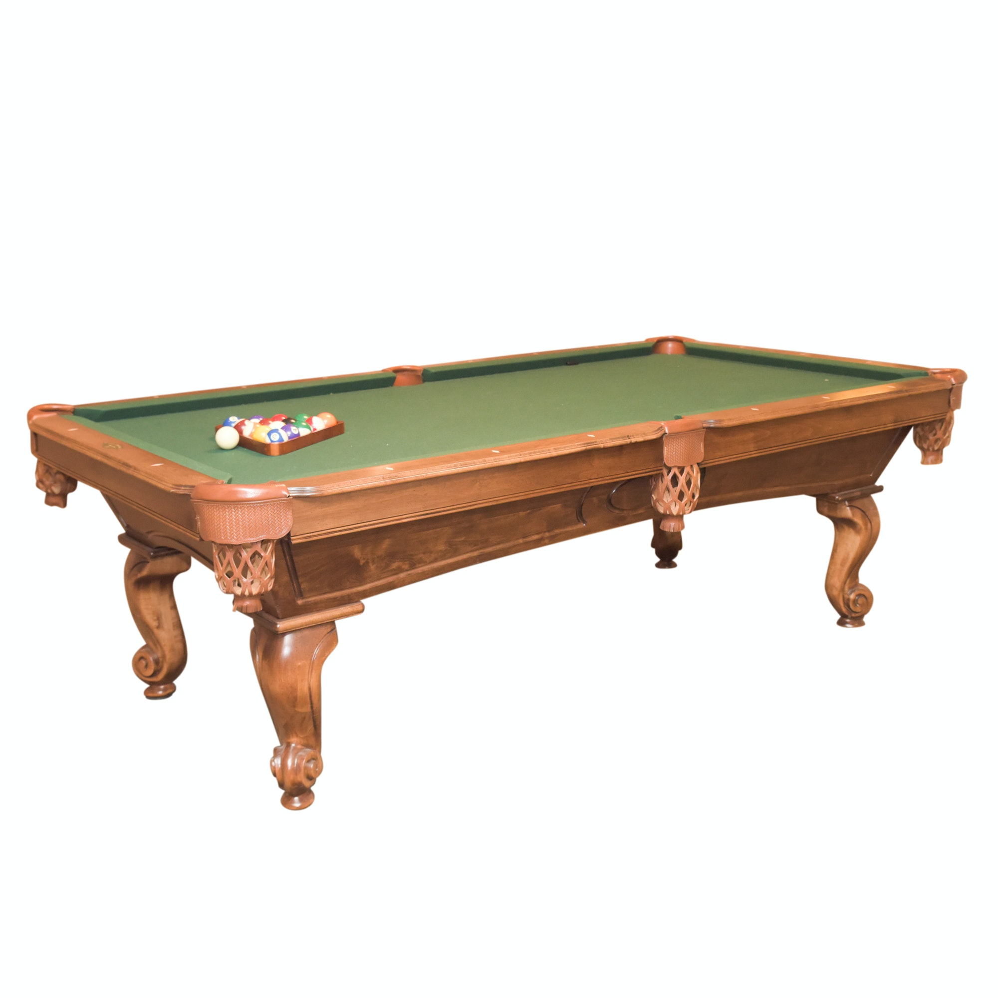 ProLine Billiards Table with Cues, Wall Rack, and Accessories