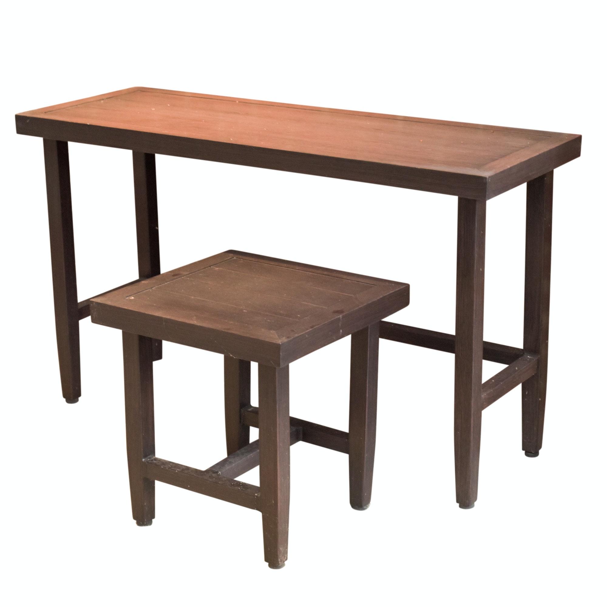 Hampton Bay Wooden Patio Side Tables
