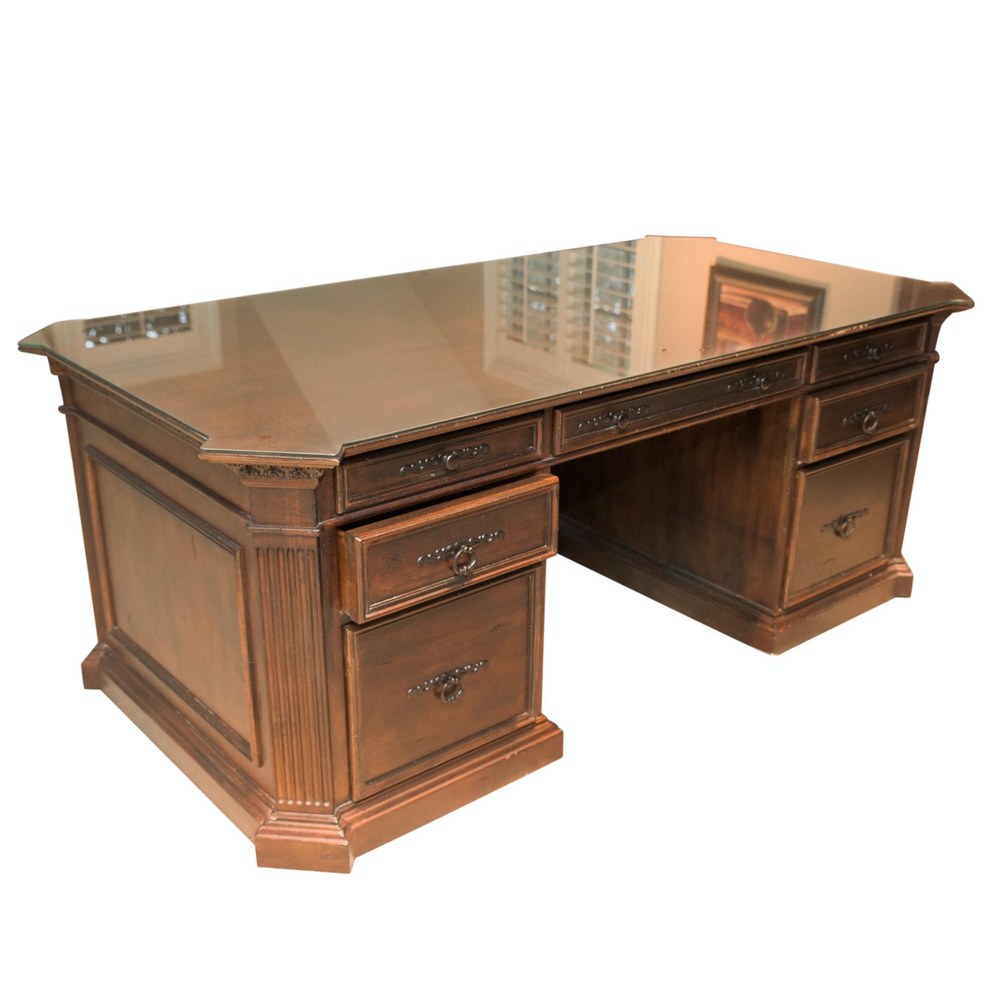 """Contemporary """"American Treasures"""" Executive Desk by Habersham"""