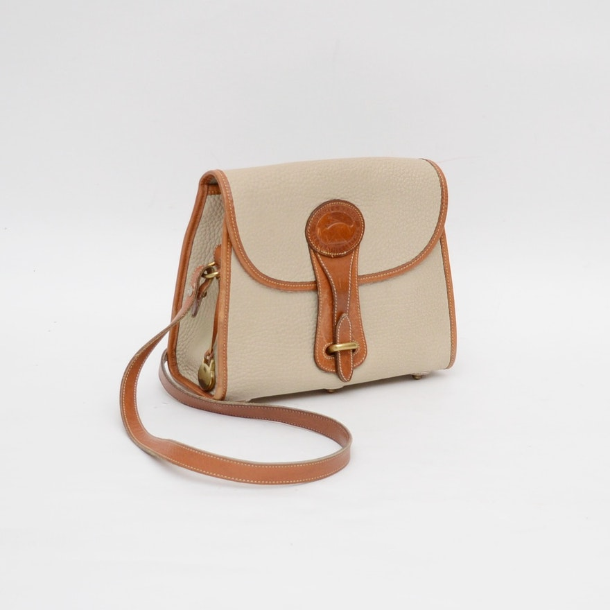 Vintage Dooney Bourke All Weather Leather Crossbody Bag