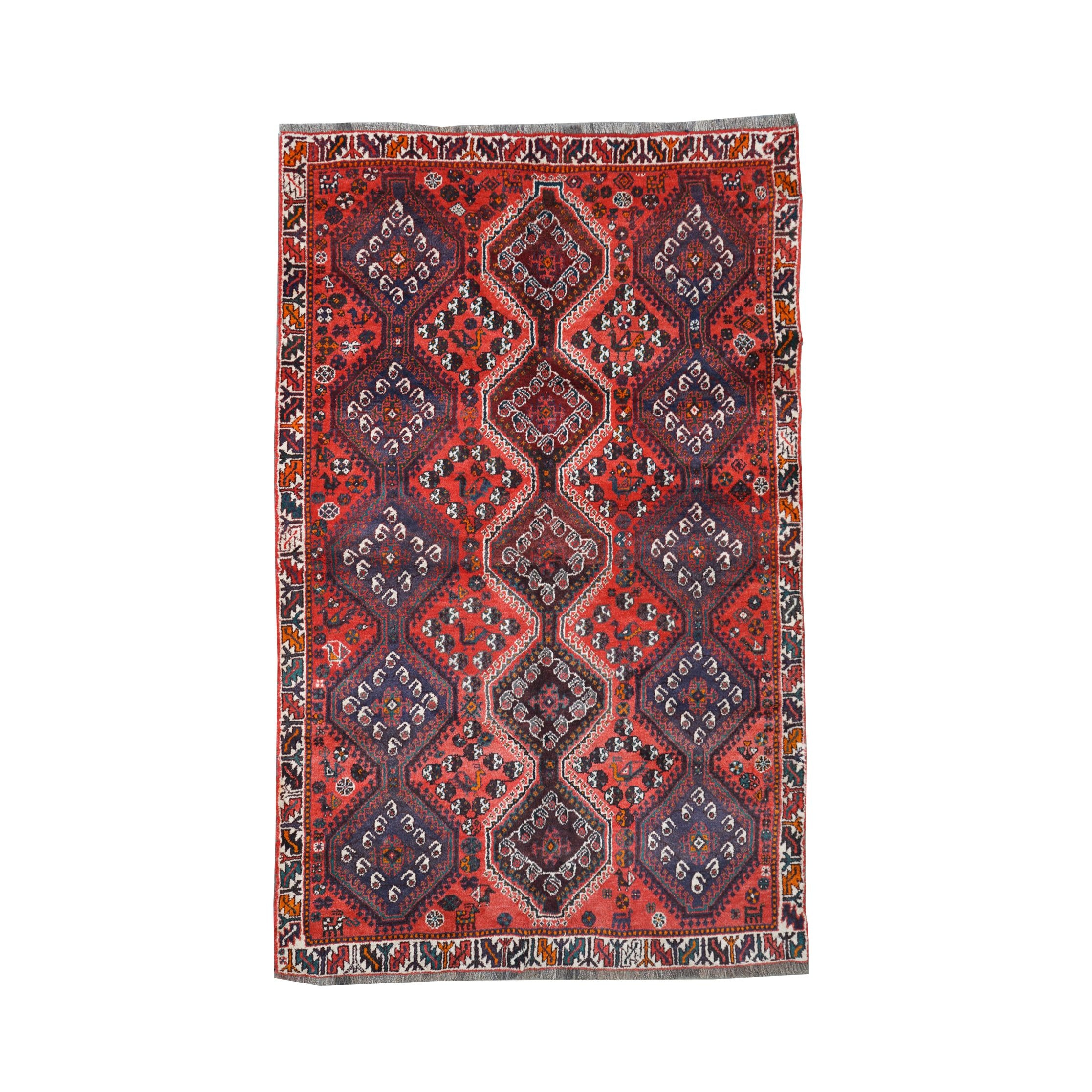 Hand-Knotted Iraqi Village Wool Rug