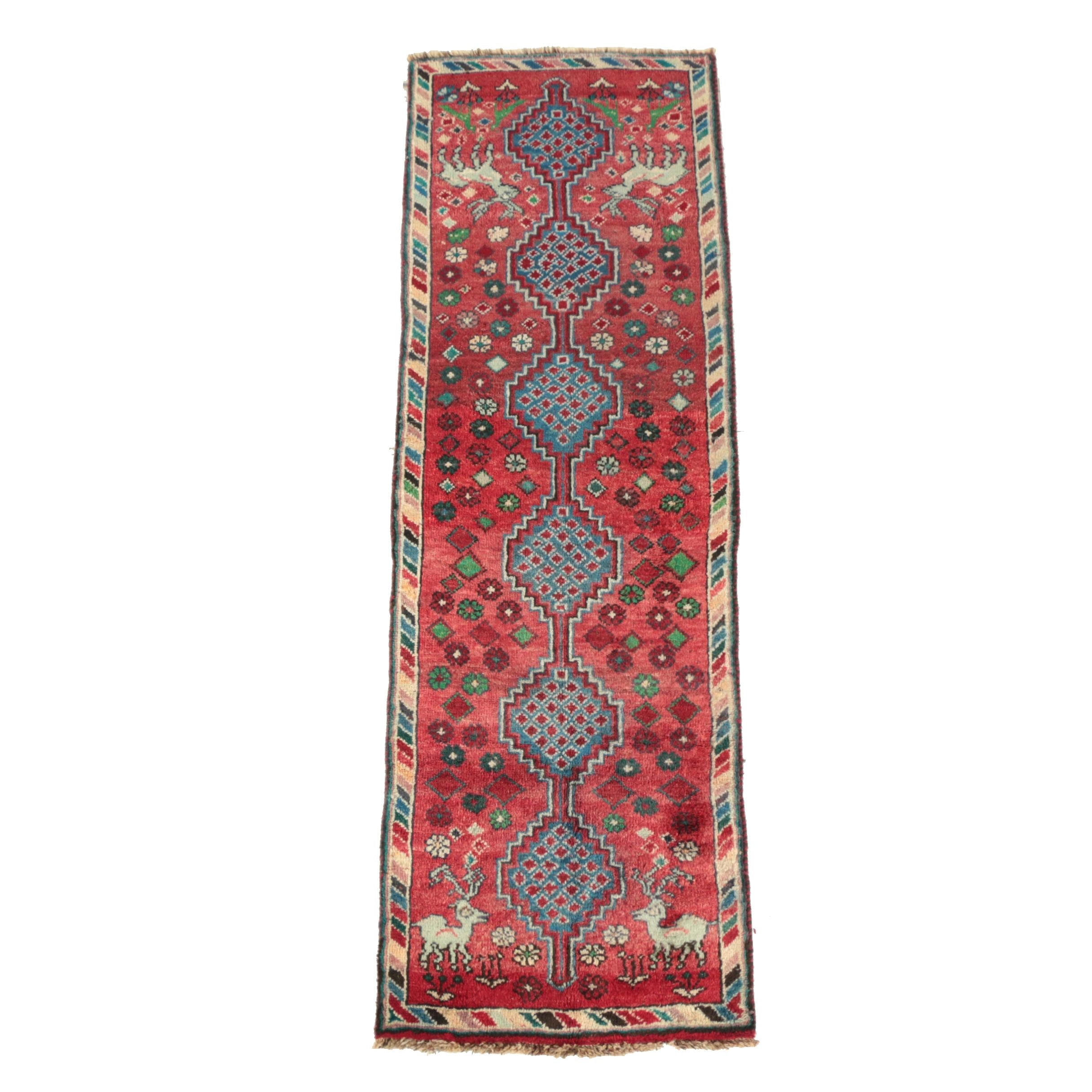 Hand-Knotted Persian Tribal Wool Runner