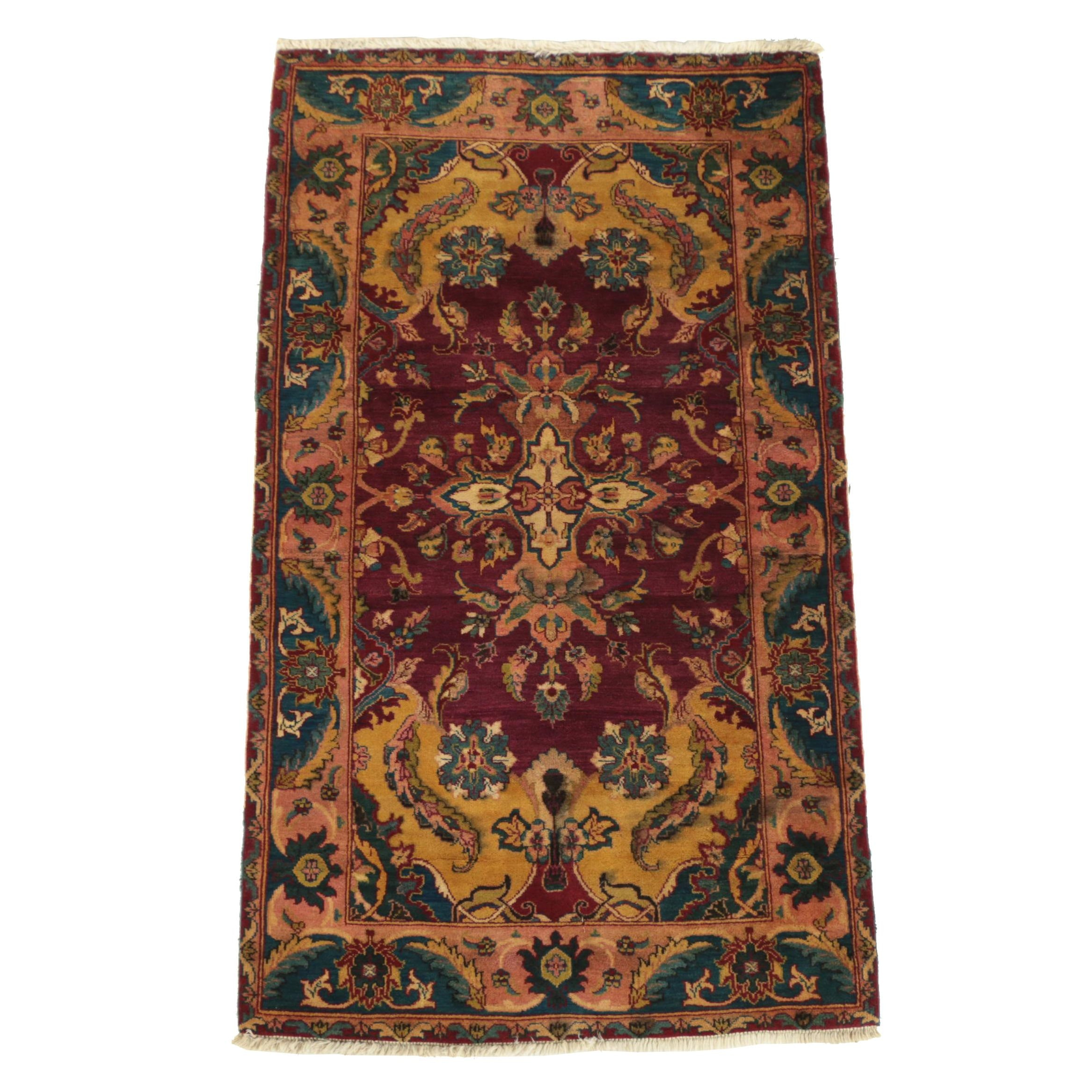 Hand-Knotted Indian Wool Rug for Noble House Collection