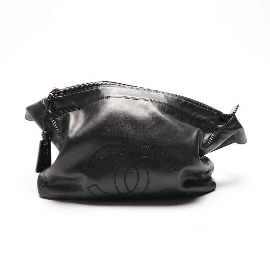 f108e1319018 Late 1990s Chanel Black Lambskin Leather Shoulder Bag : EBTH