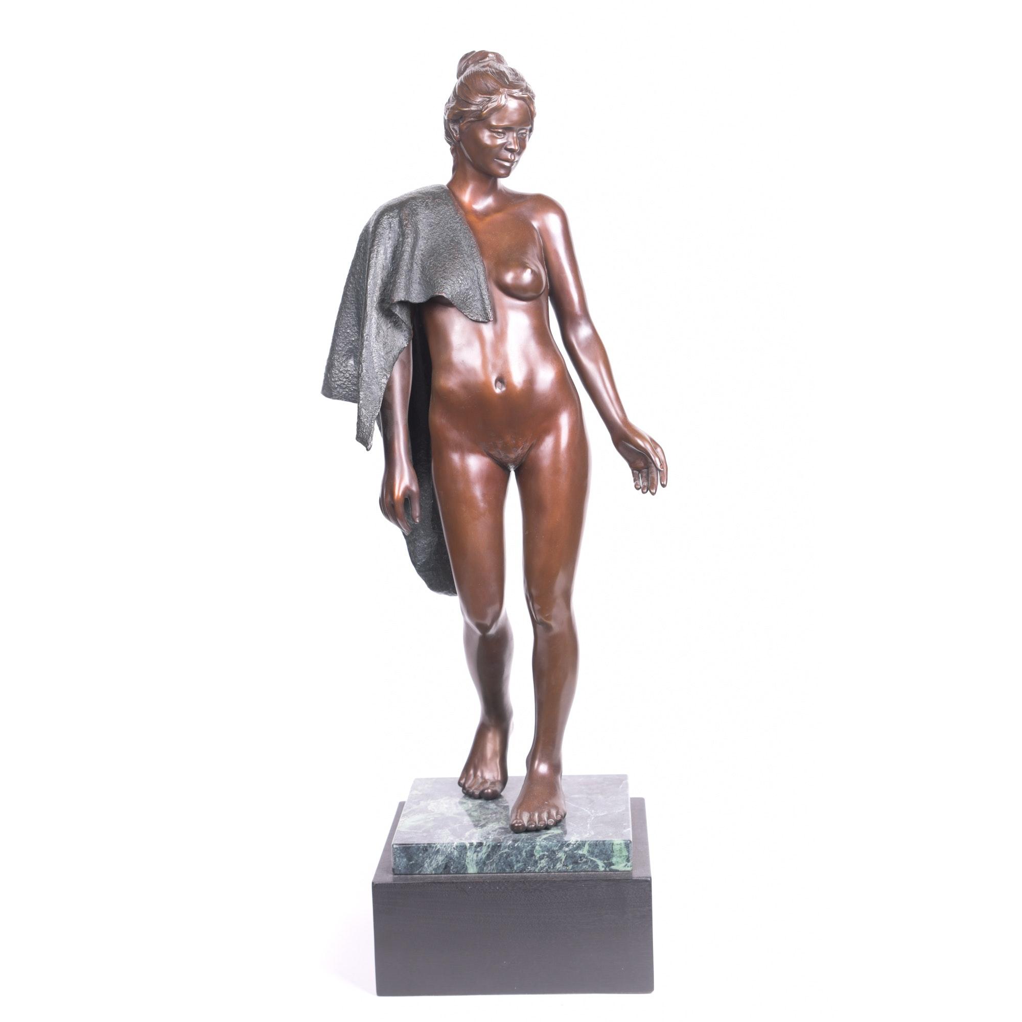 W. Stanley Proctor Cast Bronze Sculpture of a Woman