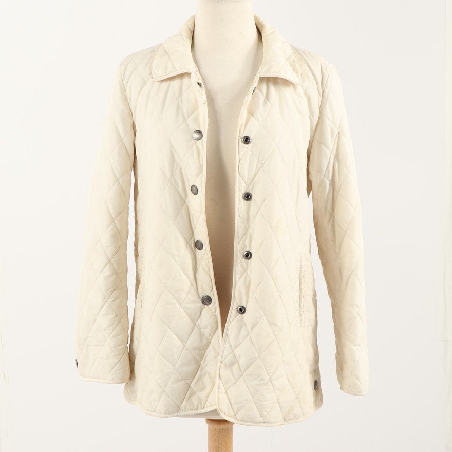 Women s Coach Ivory Colored Quilted Jacket   EBTH 47d83fbfa