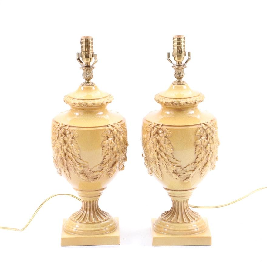 Bradburn Gallery Ceramic Urn Table Lamps Ebth