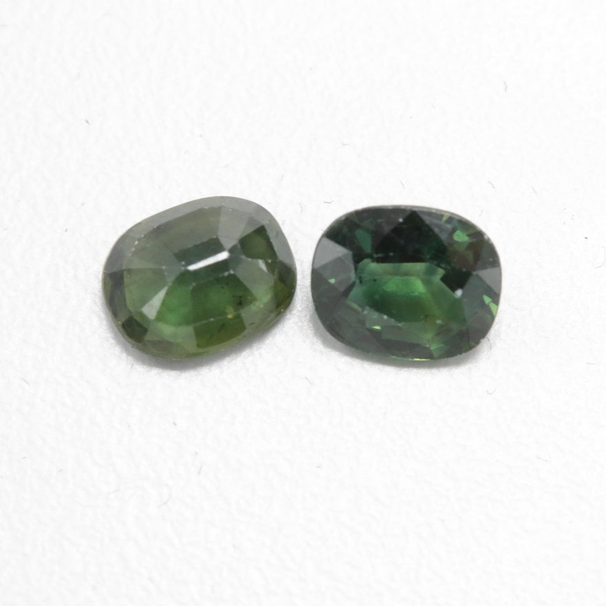 Loose 2 72 CTW Green Sapphires