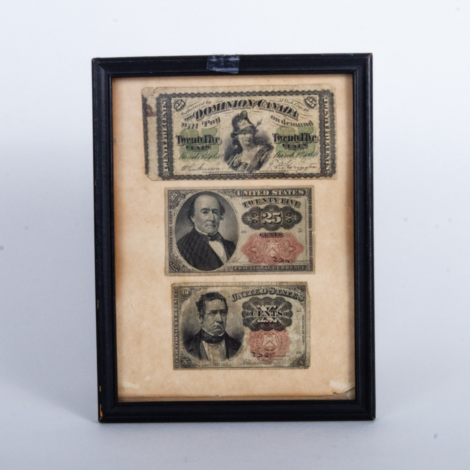 United States and Canada Fractional Currency Notes