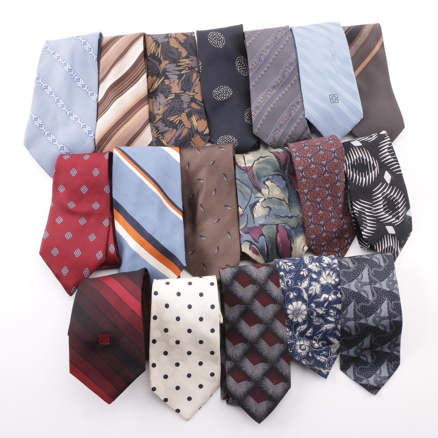 9c462592dca6 Vintage Designer Neckties including Givenchy, Giorgio Armani and Christian  Dior ...
