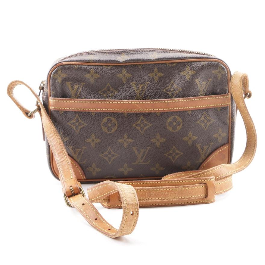 d2c4958c0321 1994 Vintage Louis Vuitton of Paris Trocadero Monogram Canvas Crossbody Bag  ...
