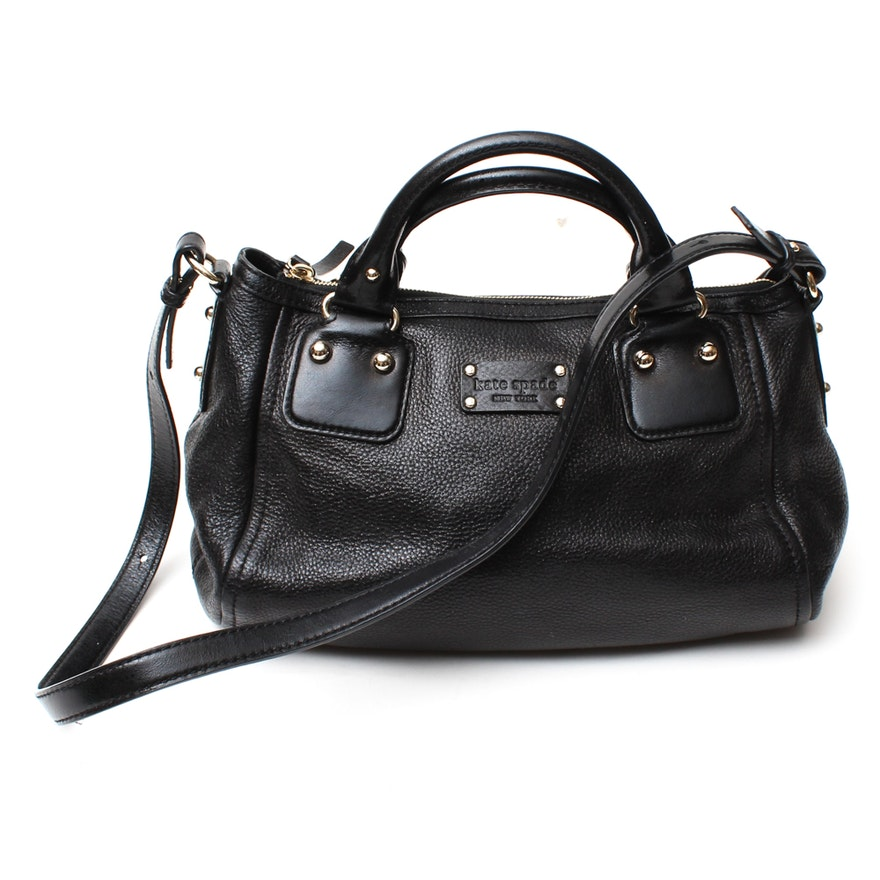17f5513d027e Kate Spade New York Black Pebbled Leather Satchel : EBTH