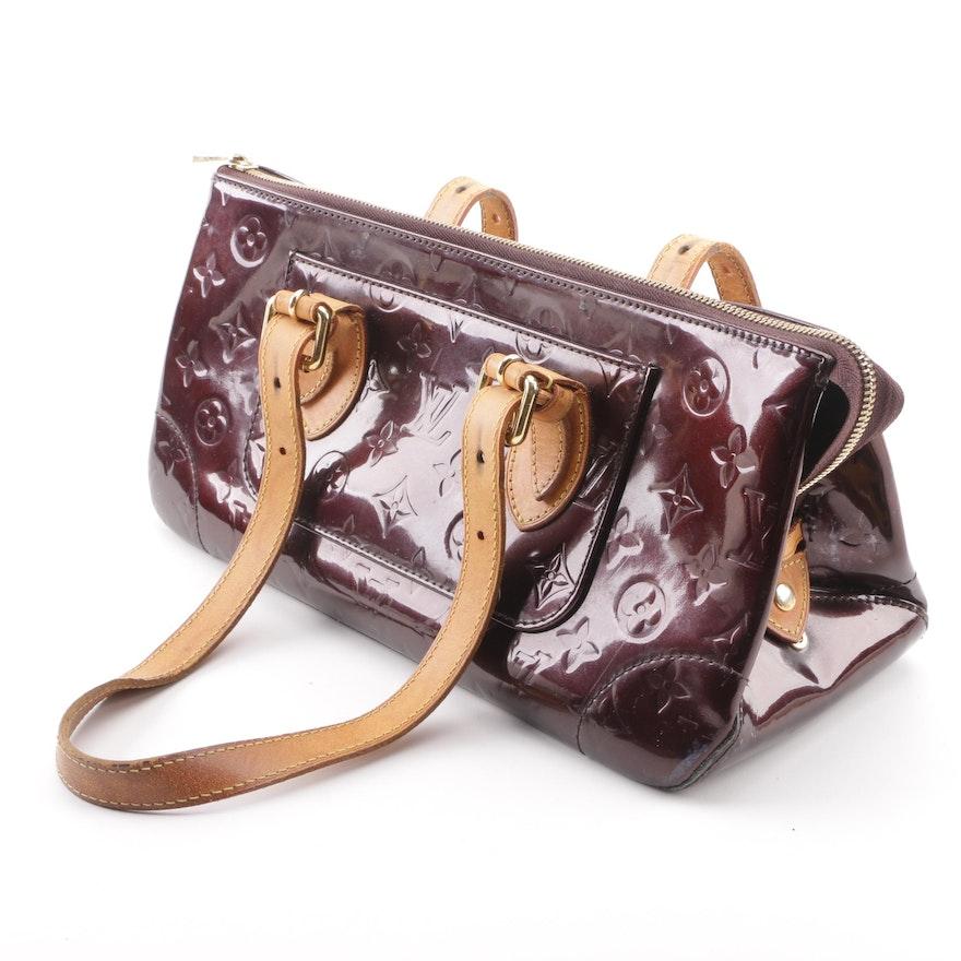 50c0efd62be5 2008 Louis Vuitton Rosewood Avenue Amarante Monogram Vernis Handbag   EBTH