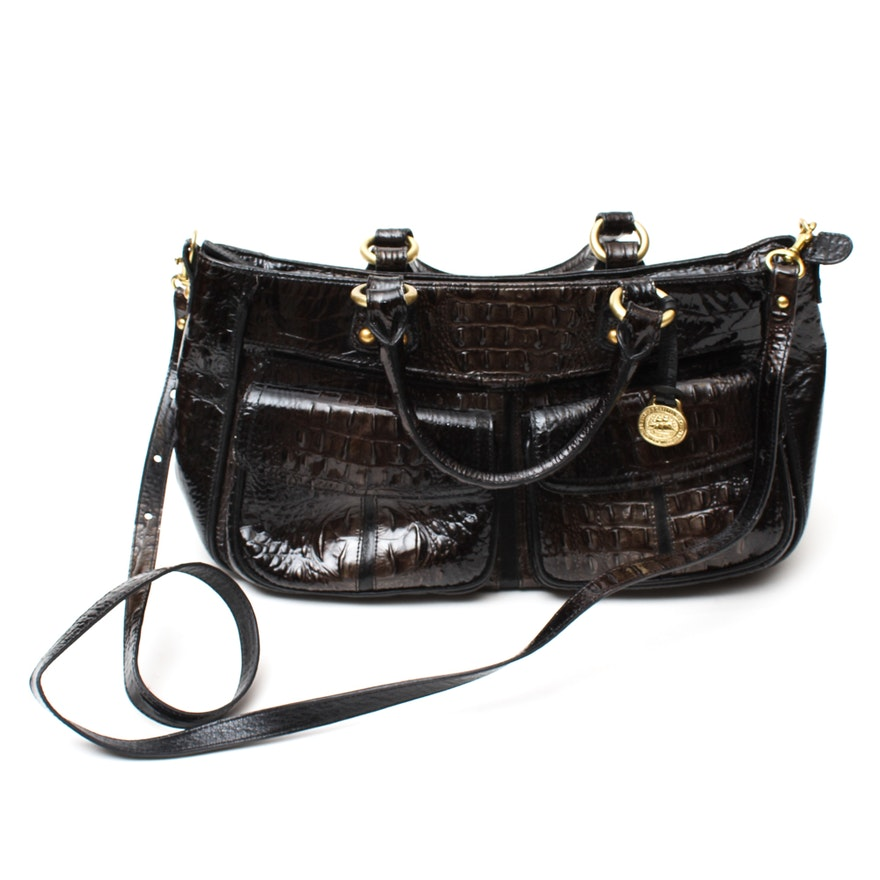 ed230619a890 Brahmin Crocodile Embossed Patent Leather Bag   EBTH