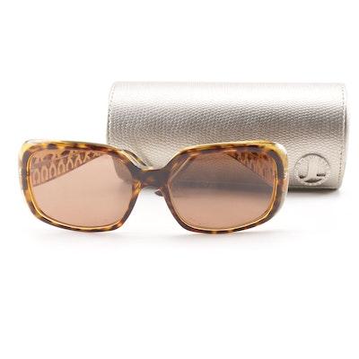 251289cfec Judith Leiber JL1130 Tortoiseshell Style Jeweled Sunglasses