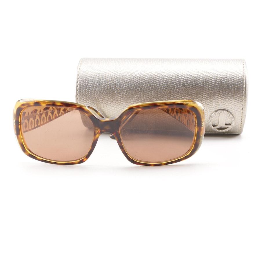 39c5ac2405 Judith Leiber JL1130 Tortoiseshell Style Jeweled Sunglasses   EBTH