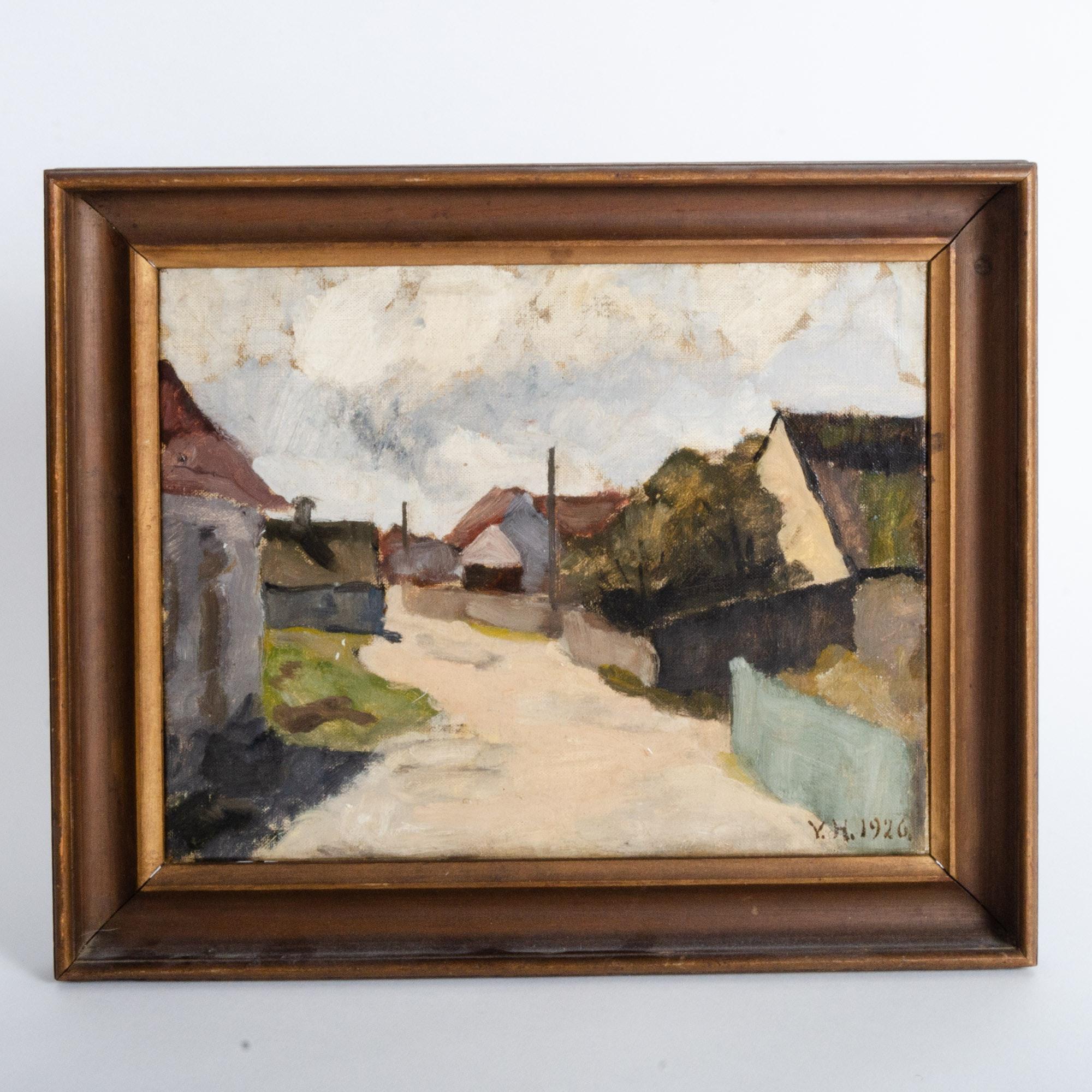 Vilhelm Henriques Landscape Oil Painting