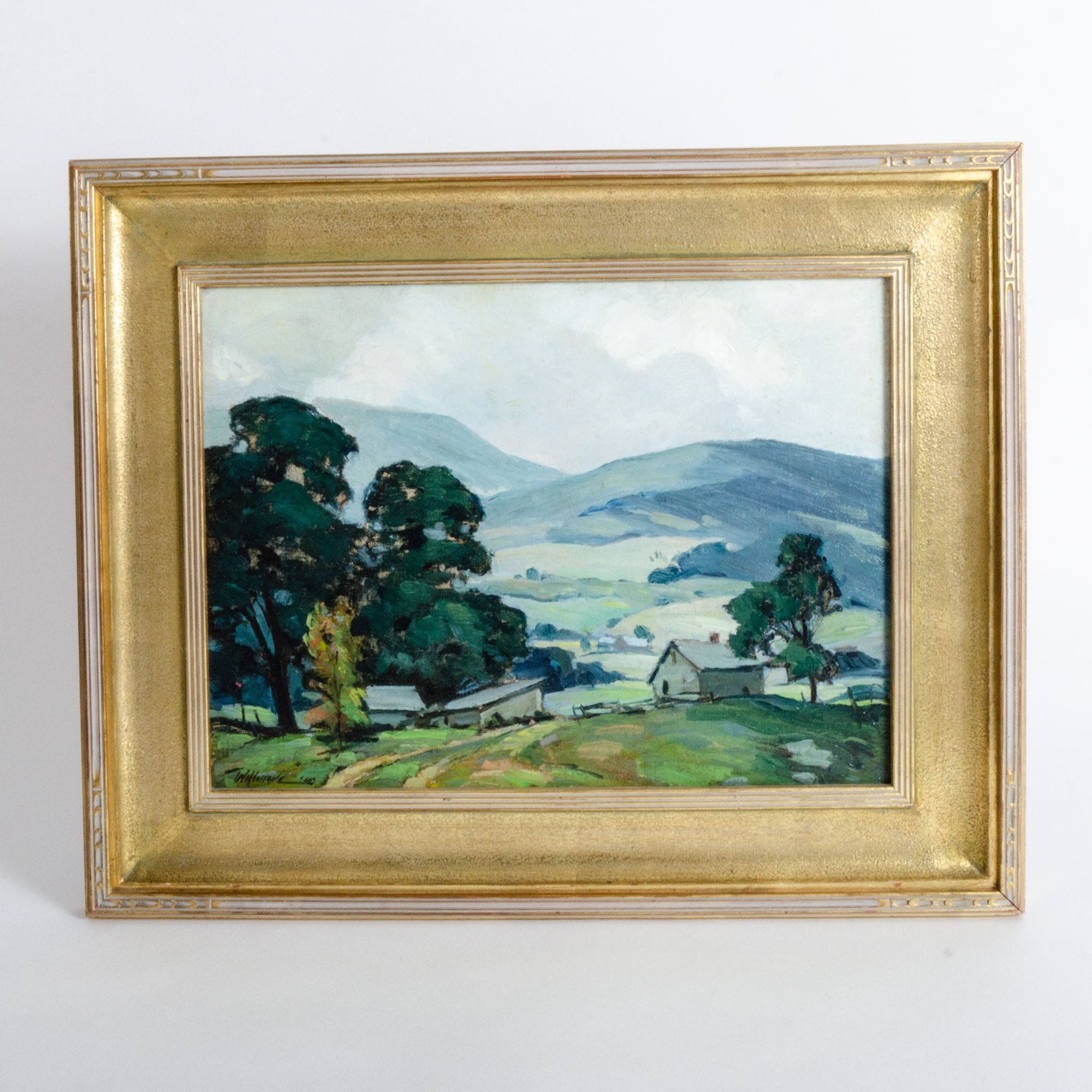 Merton Willmore Mid Century Oil Painting