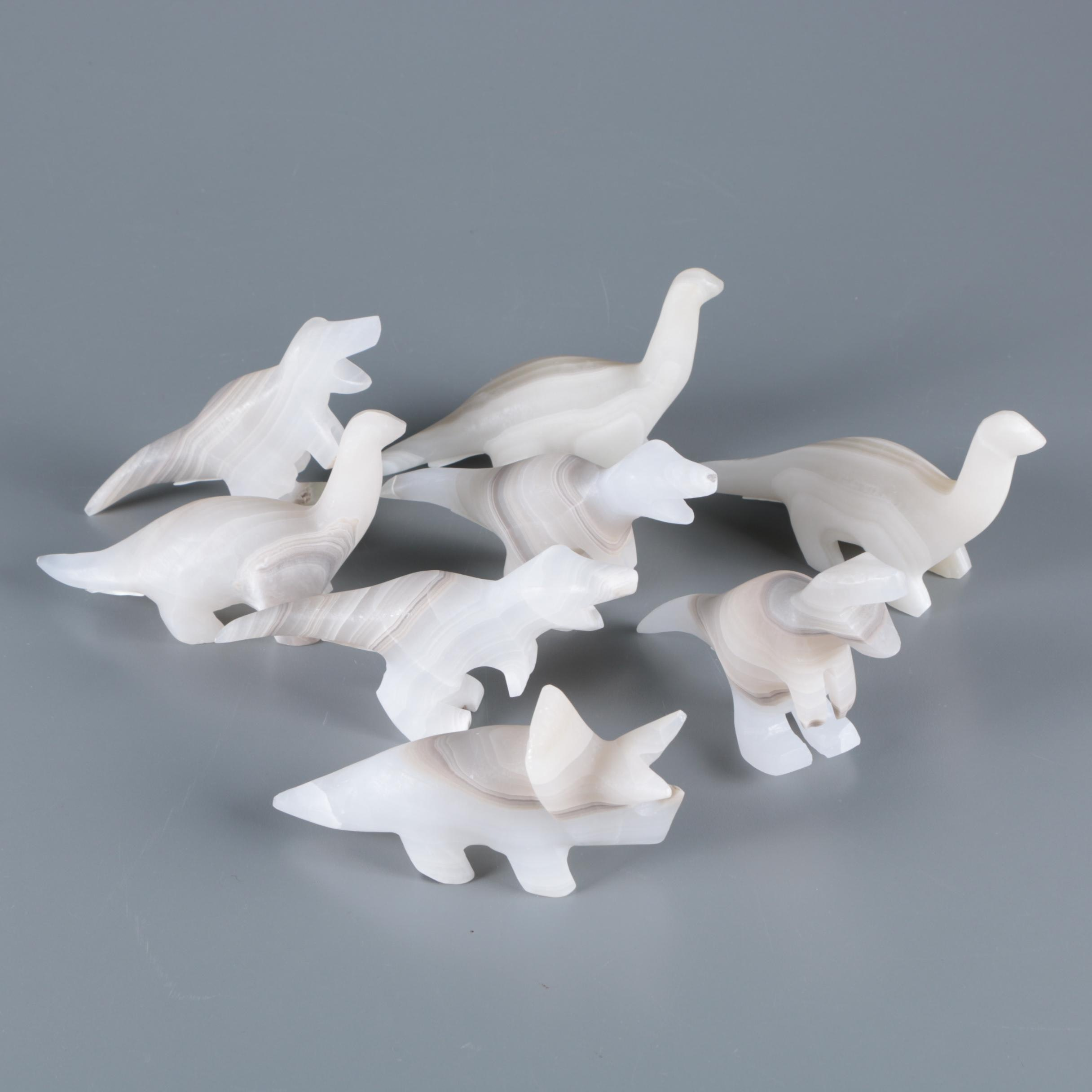 Carved Onyx Dinosaurs
