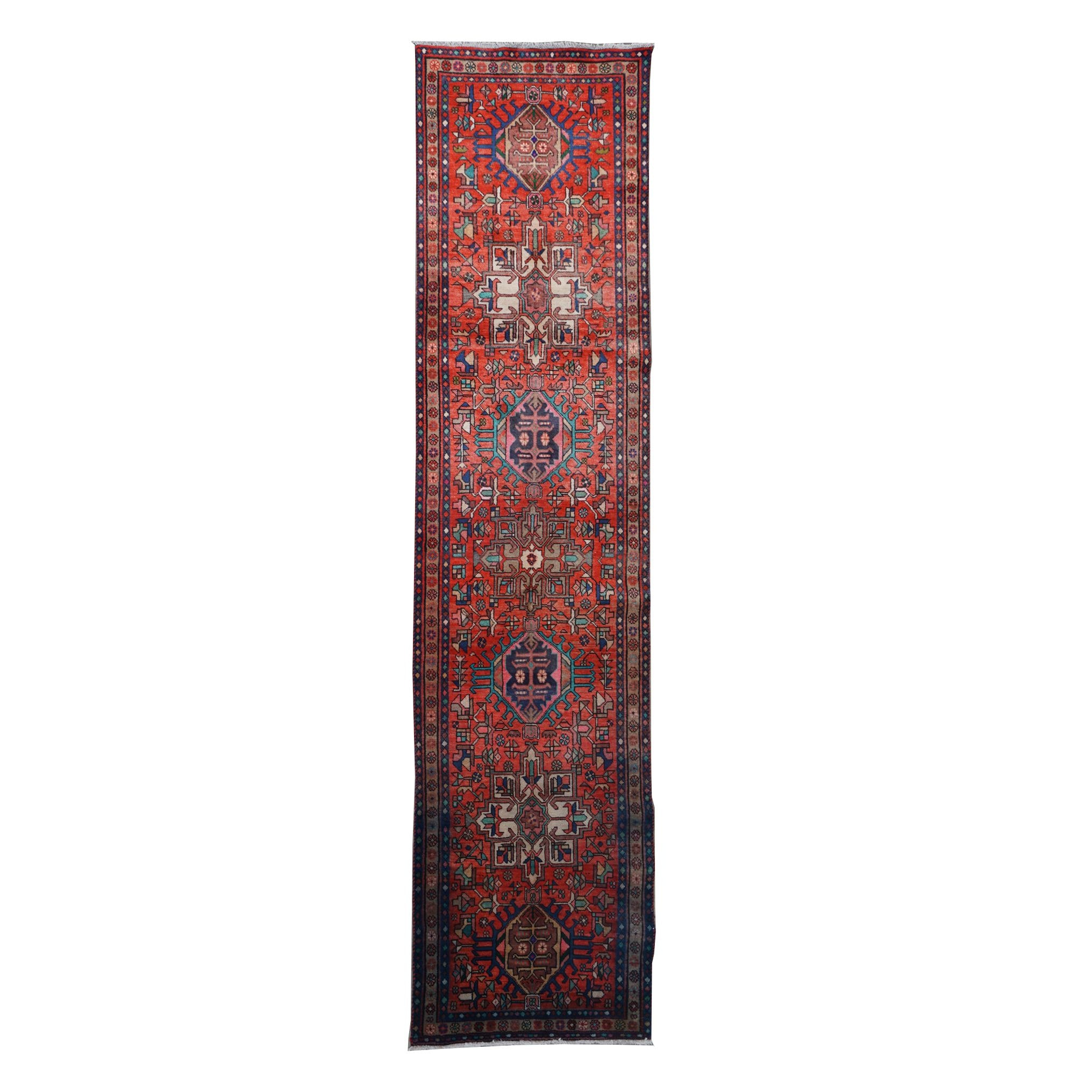 Hand-Knotted Persian Lamberan Wool Runner
