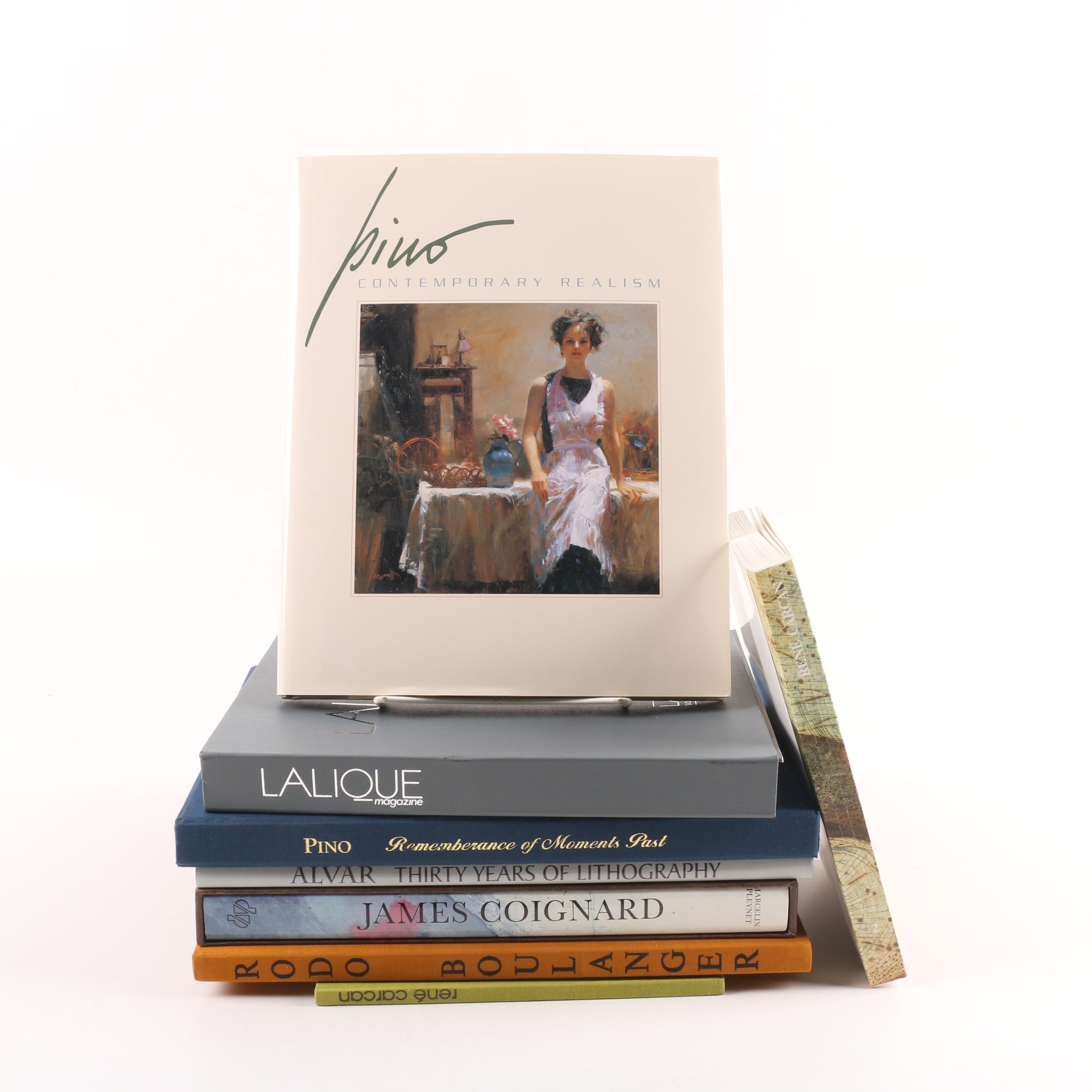 """Art Books featuring René Carcan with """"Lalique"""" Magazine"""