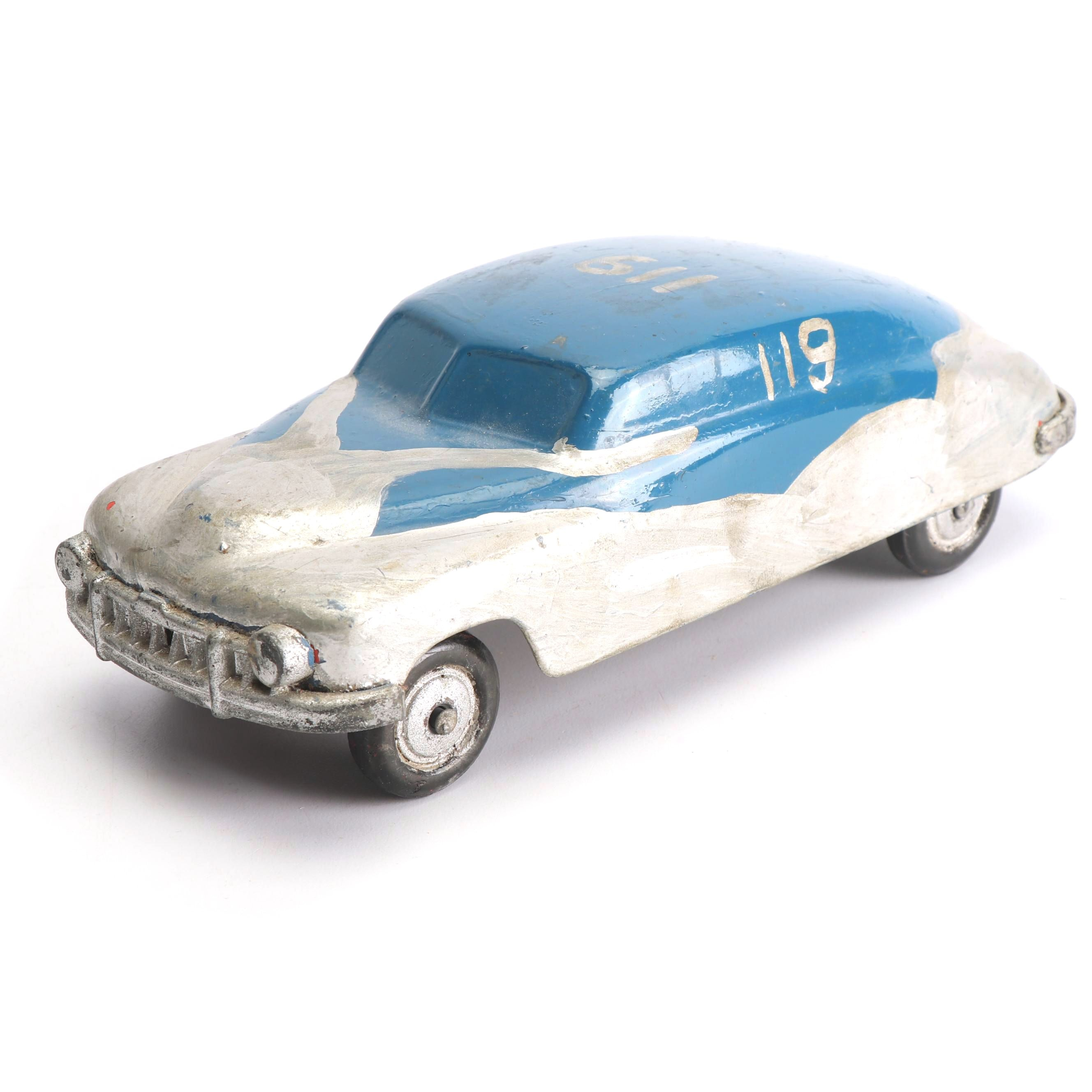 Hand Painted Cast Metal Toy Car