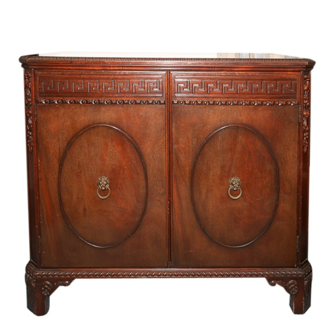 Neoclassical Style Mahogany Cabinet, 20th Century