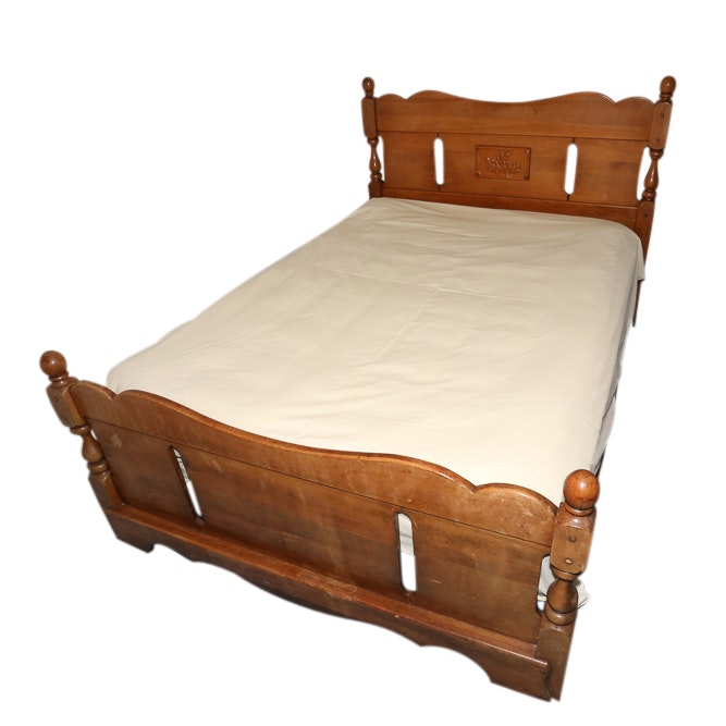 Maple Full Size Bed Frame, 20th Century