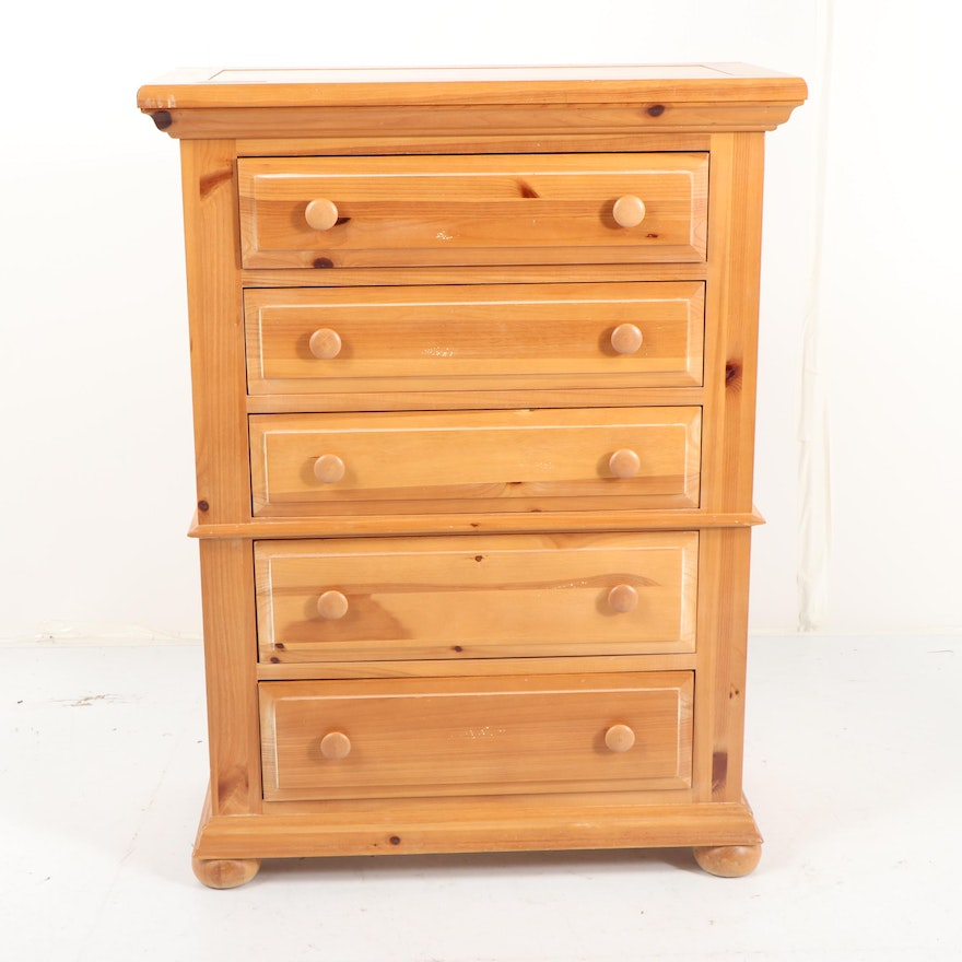 Contemporary Fontana Pine Chest Of Drawers By Broyhill