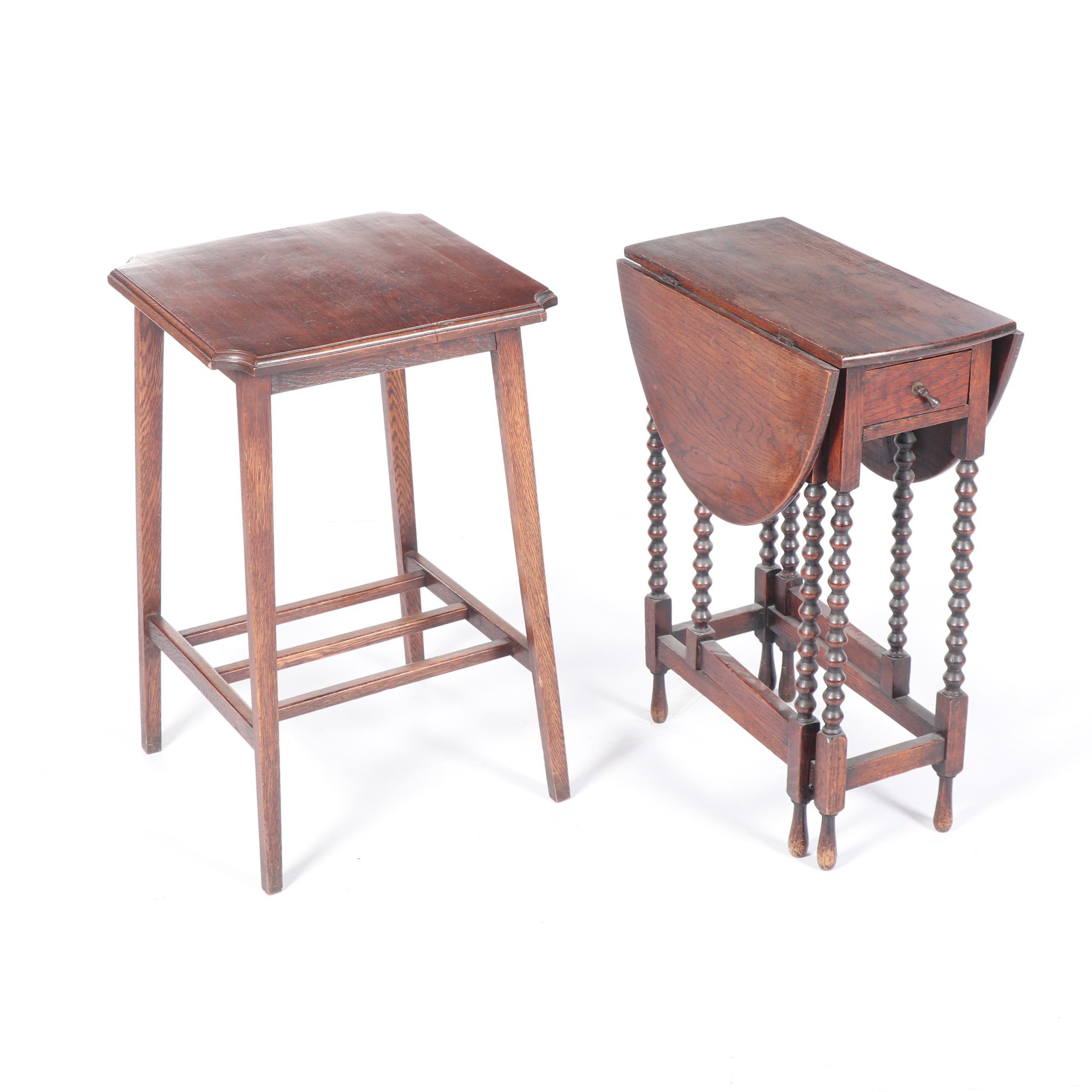 Oak Side Tables, 20th Century