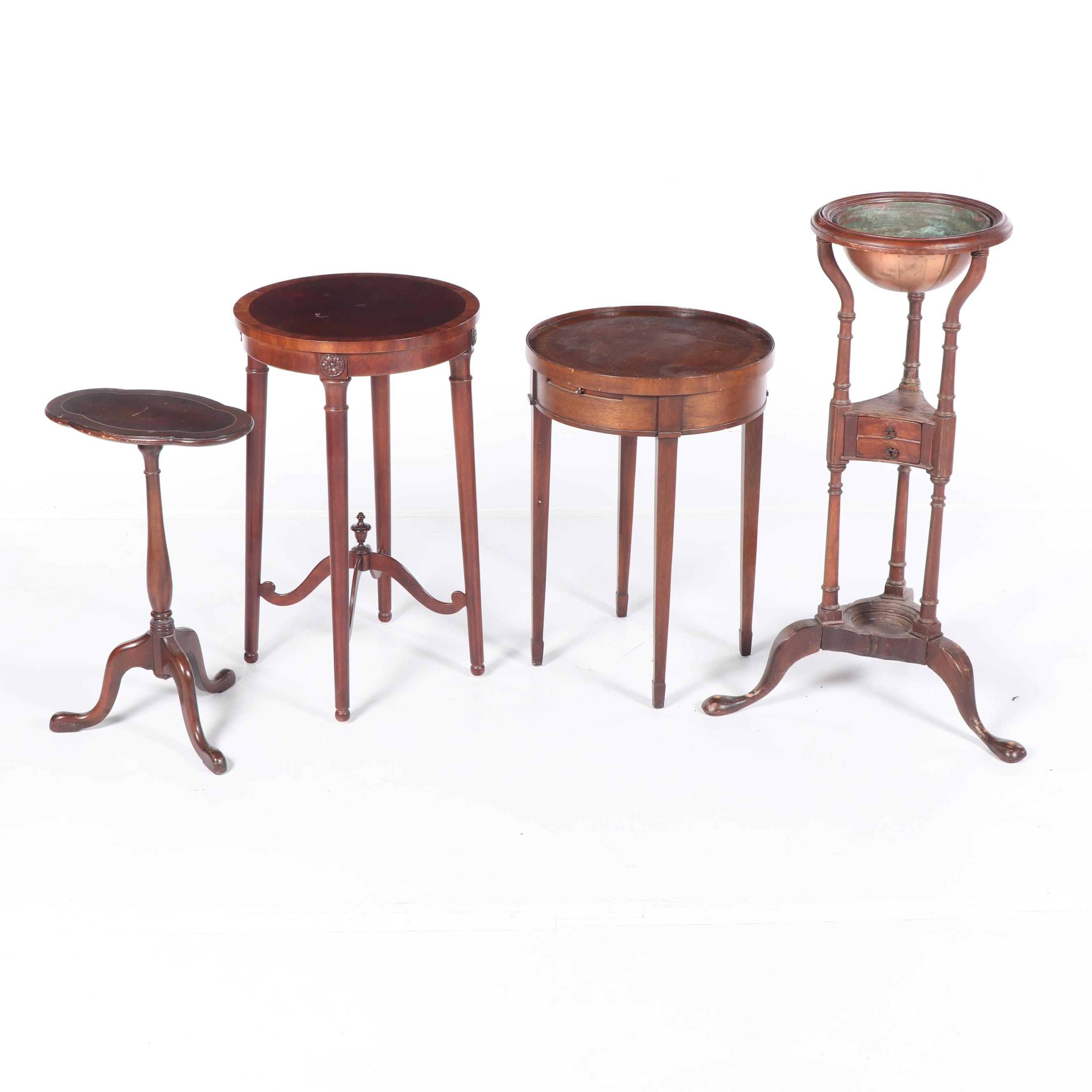 Federal Style Occasional Tables and Plant Stand, Early/Mid 20 Century