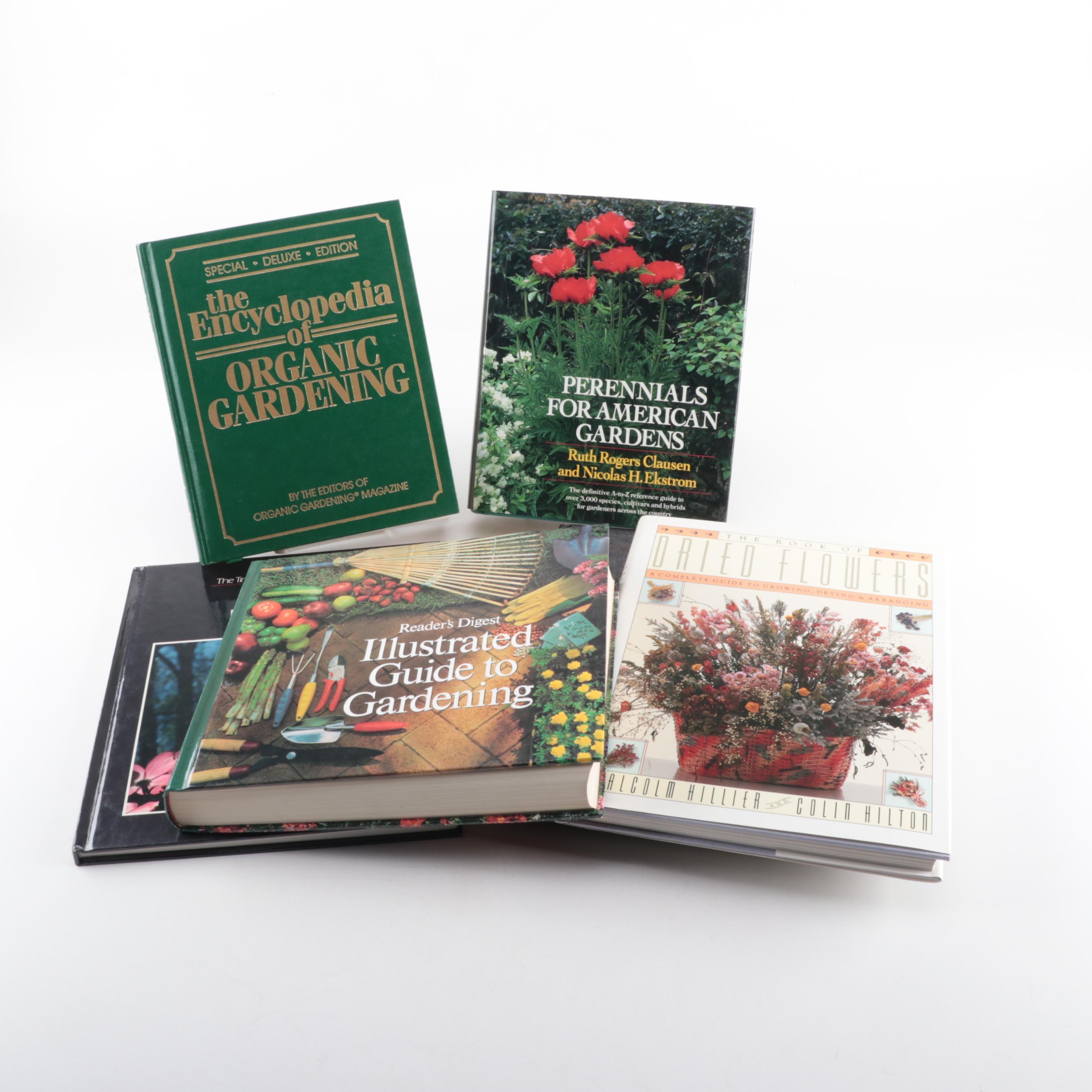 "Gardening Books including ""The Encyclopedia of Organic Gardening"""