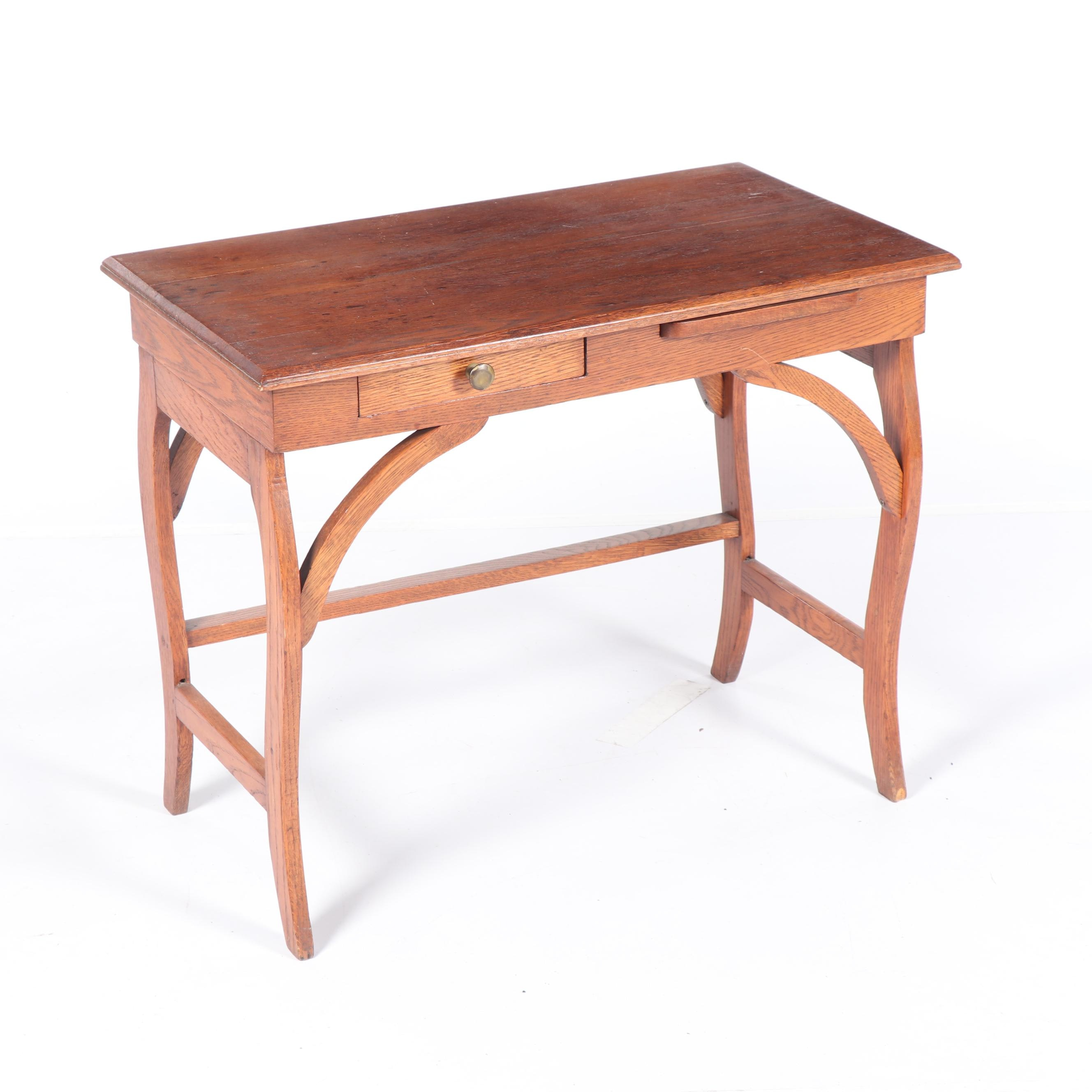 Oak Writing Desk, 20th Century