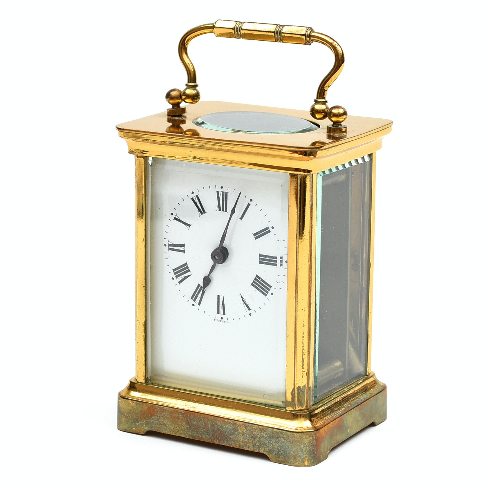 Duverdrey & Bloquel Brass Carriage Clock, Made in France
