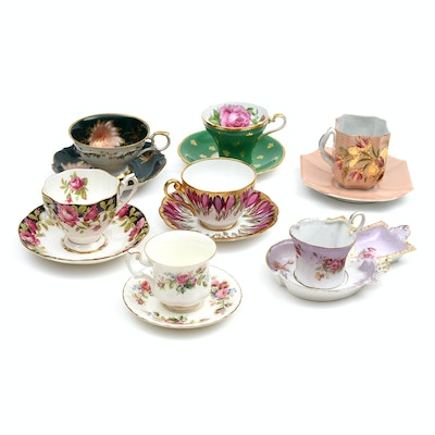 Various Vintage Bone China and Porcelain Tea Cups and Saucers