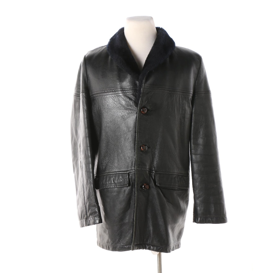 37988ccdf574 Men s Vintage Lakeland Sportswear Leather Jacket with Faux Fur Lining   EBTH