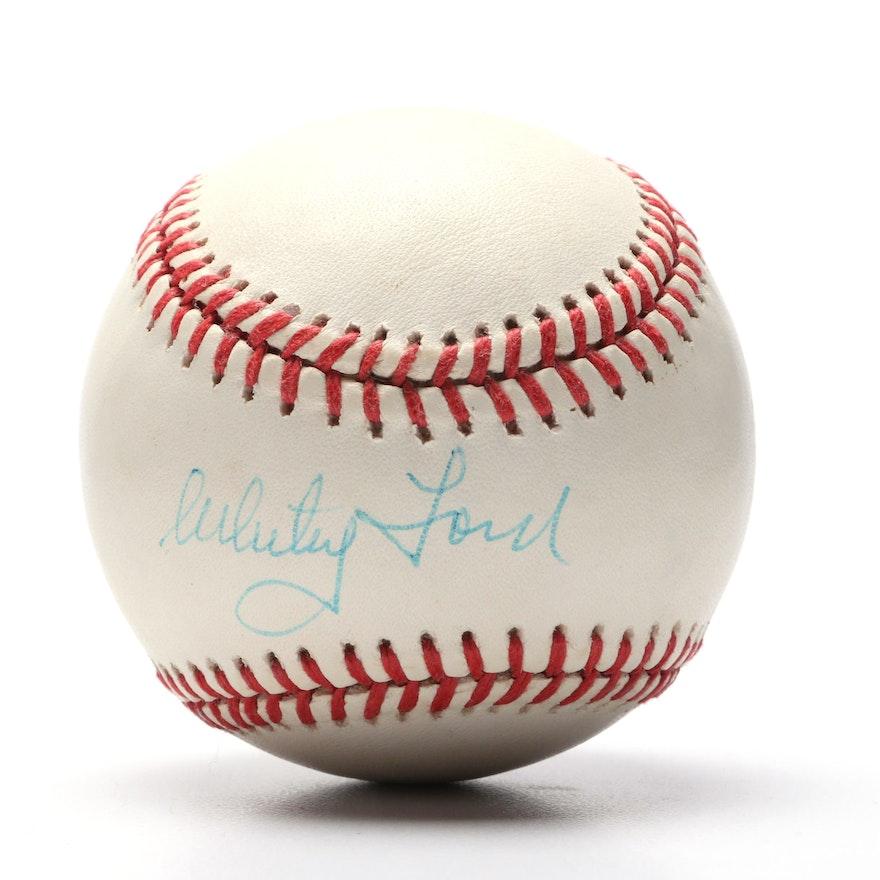 a3ce20e02ba Whitey Ford Signed American League Baseball   EBTH