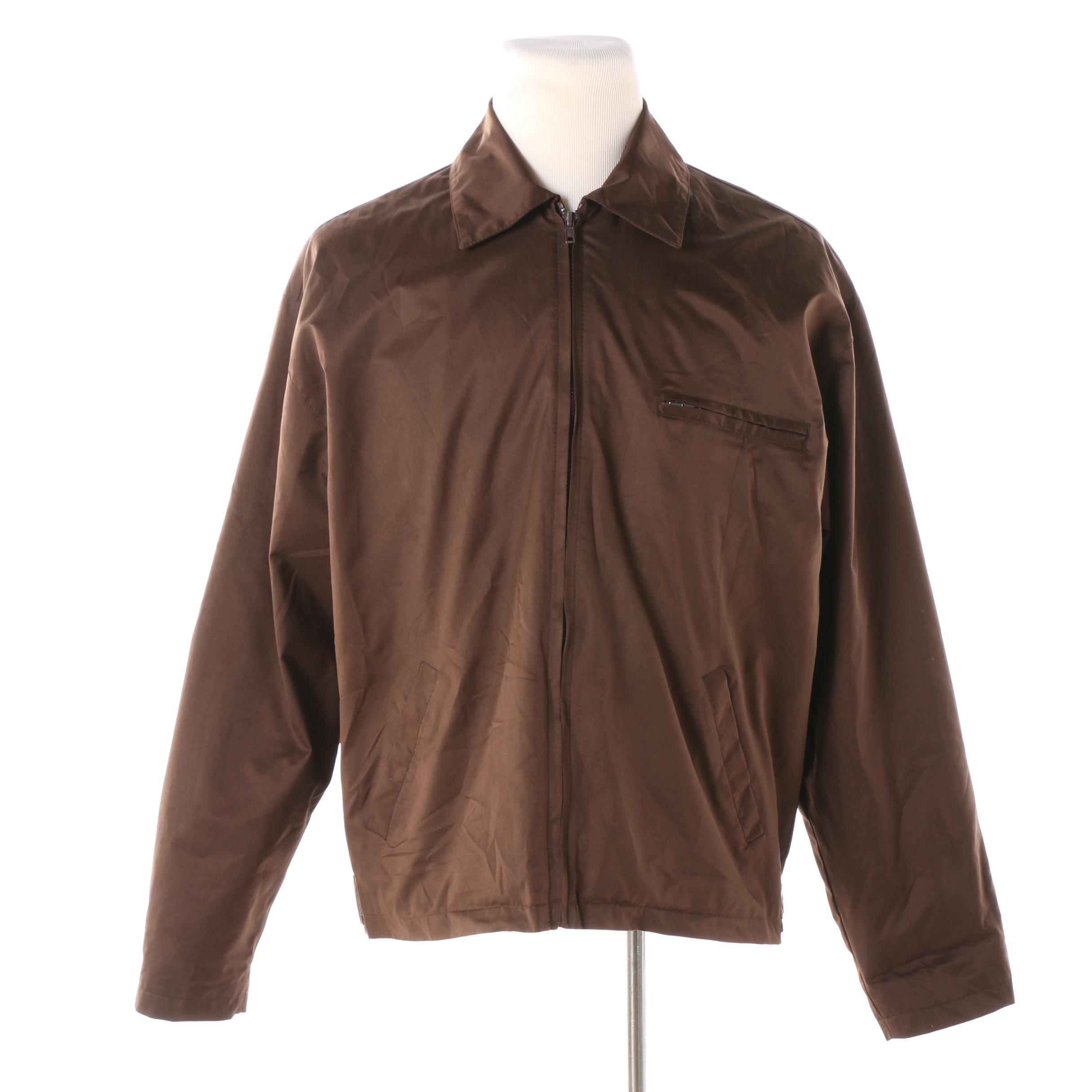 Men's Barneys New York Brown Zip Jacket