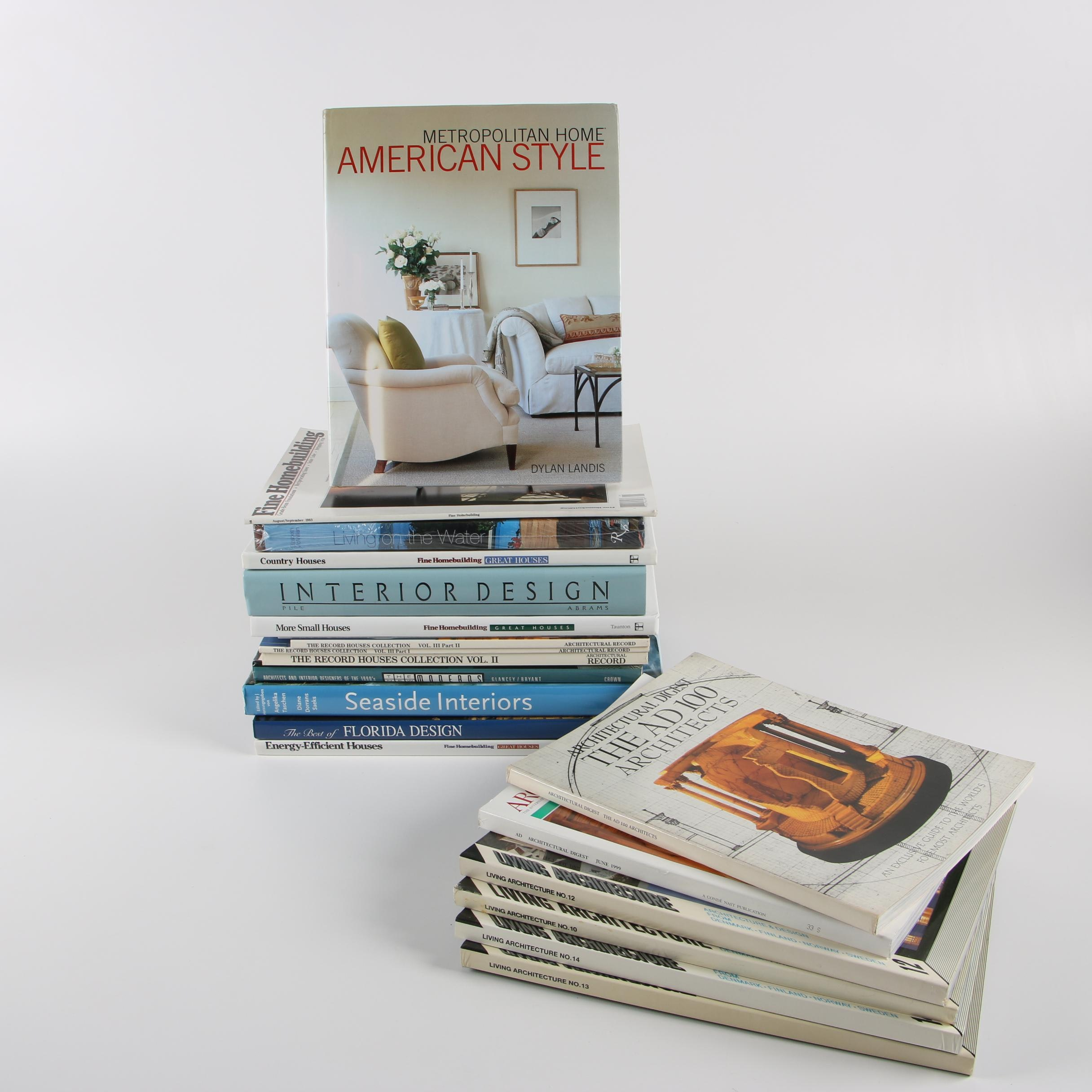 Architecture and Design Books with Magazines