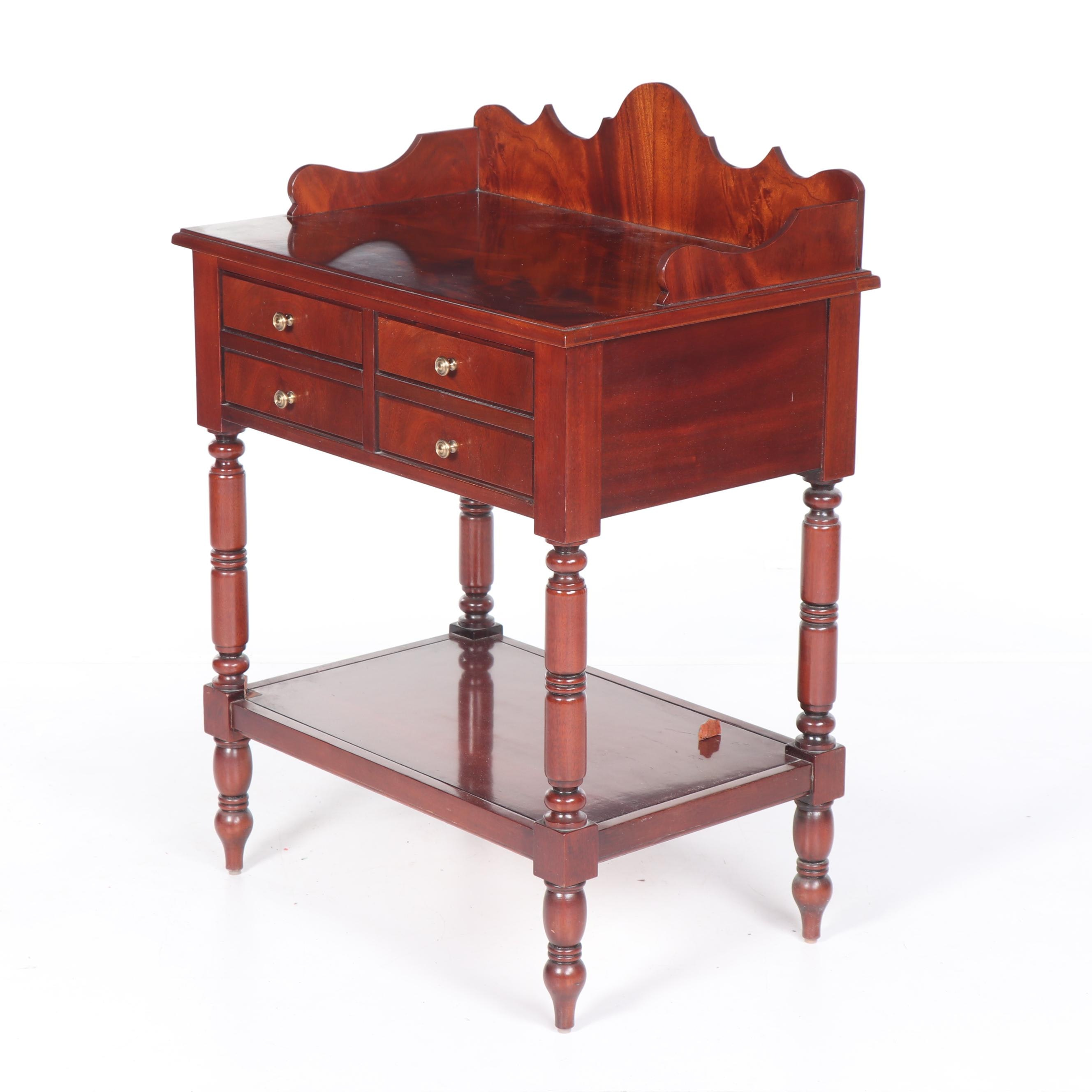 Federal Style Mahogany Side Table by Hickory Chair, 21st Century